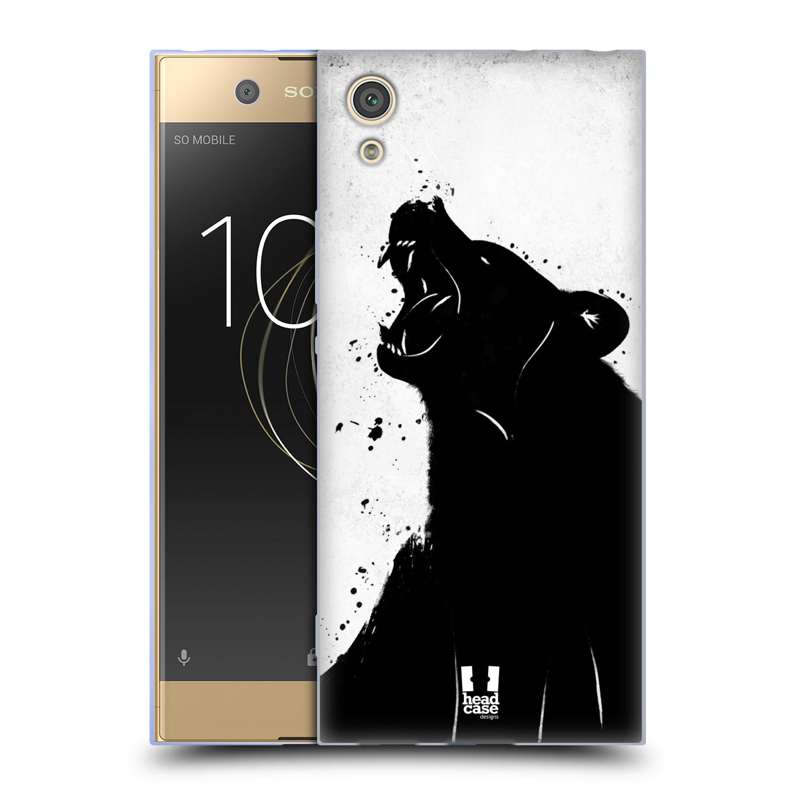 HEAD CASE silikonový obal na mobil Sony Xperia XA1 / XA1 DUAL SIM vzor Kresba tuš zvíře medvěd