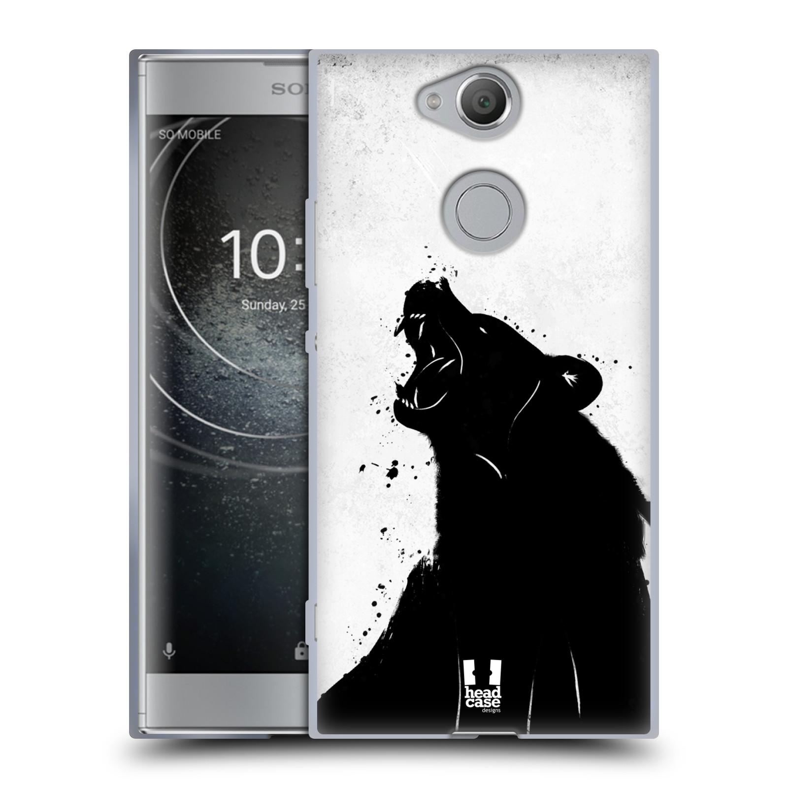 Pouzdro na mobil Sony Xperia XA2 (DUAL SIM, SINGLE SIM) vzor Kresba tuš zvíře medvěd