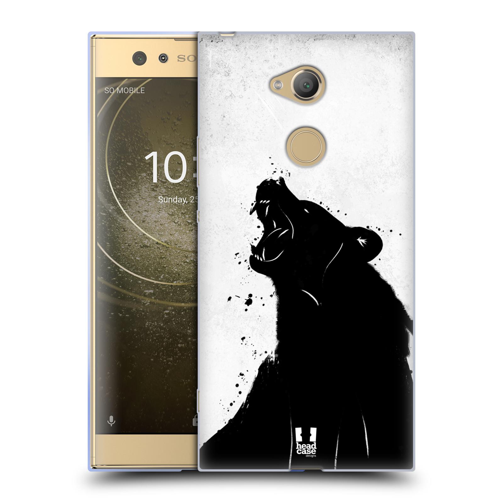 Pouzdro na mobil Sony Xperia XA2 Ultra vzor Kresba tuš zvíře medvěd