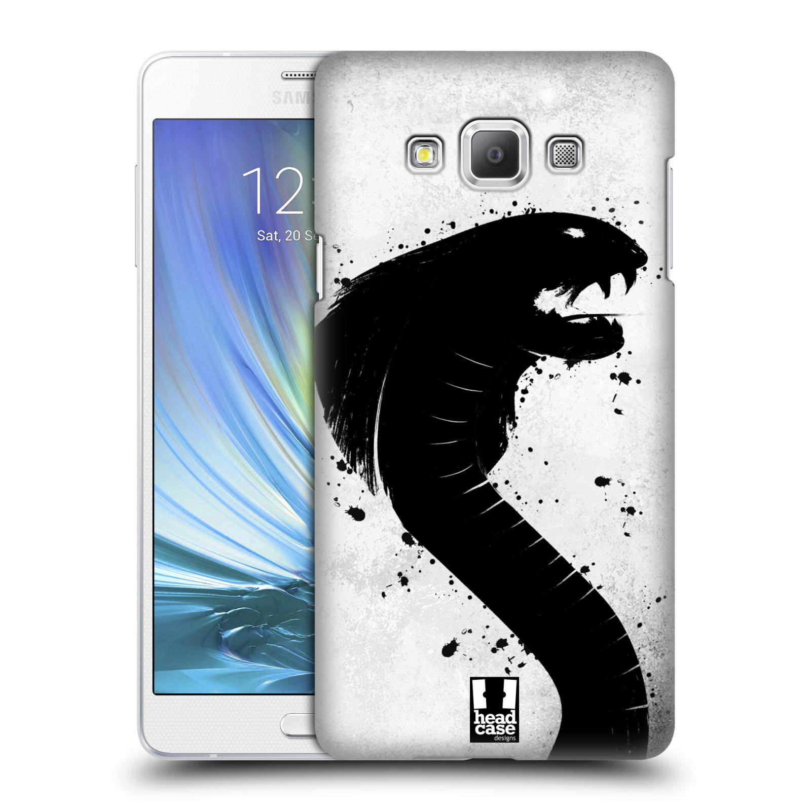 HEAD CASE plastový obal na mobil SAMSUNG GALAXY A7 vzor Kresba tuš zvíře had kobra