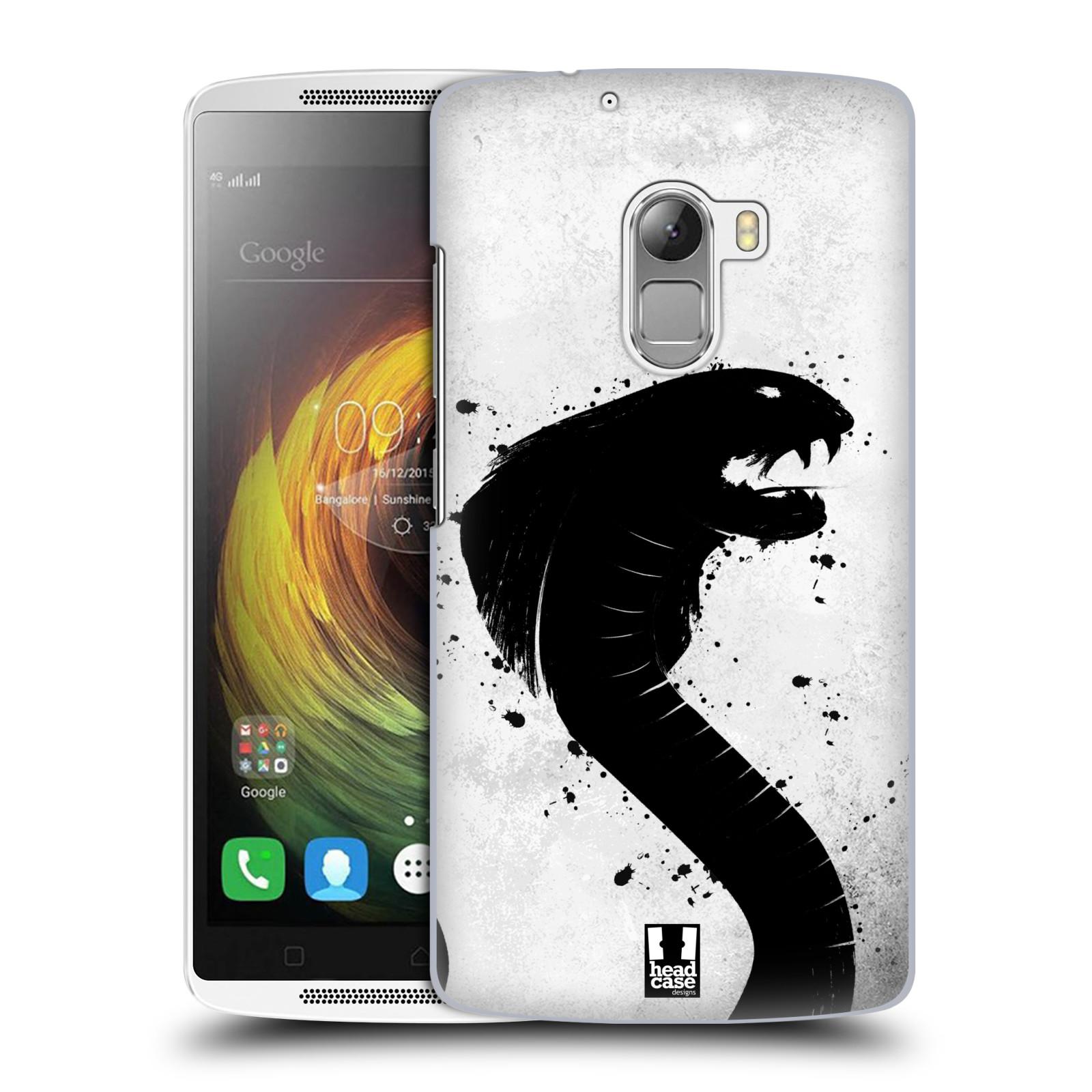 HEAD CASE pevný plastový obal na mobil LENOVO A7010 / A7010 DUAL / K4 Note / Vibe X3 lite vzor Kresba tuš zvíře had kobra