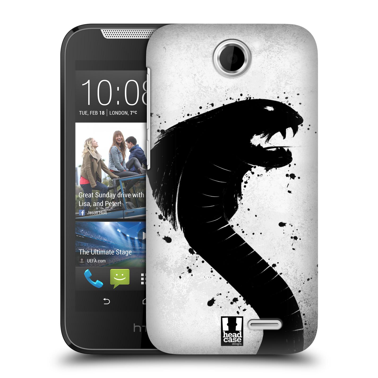 HEAD CASE plastový obal na mobil HTC Desire 310 vzor Kresba tuš zvíře had kobra