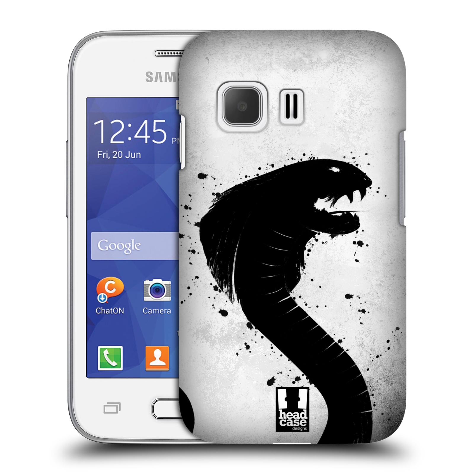 HEAD CASE plastový obal na mobil SAMSUNG Galaxy Young 2 (G130) vzor Kresba tuš zvíře had kobra