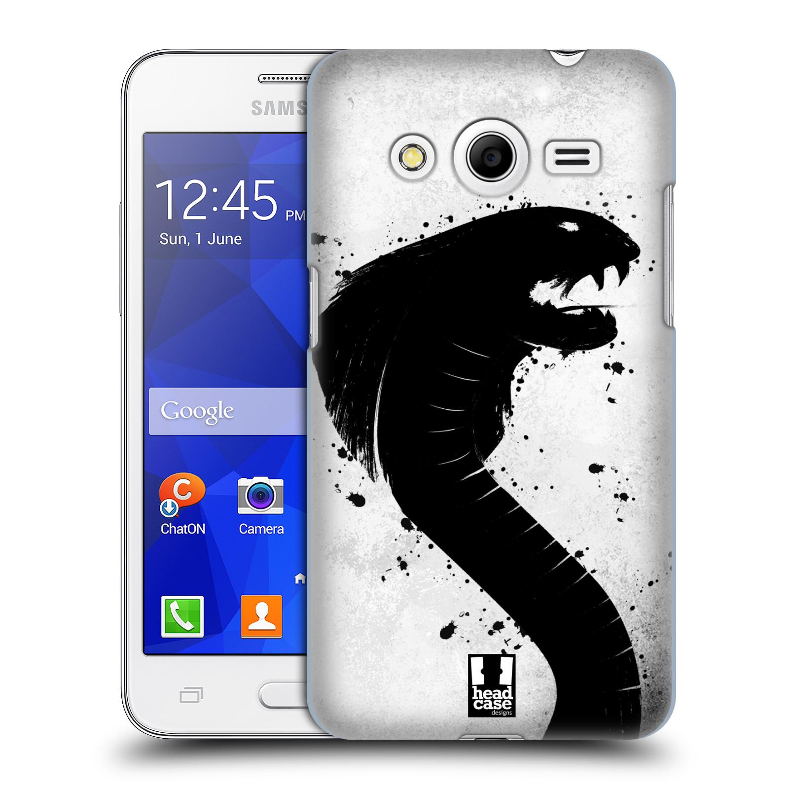 HEAD CASE plastový obal na mobil SAMSUNG GALAXY Core 2 (G355H) vzor Kresba tuš zvíře had kobra