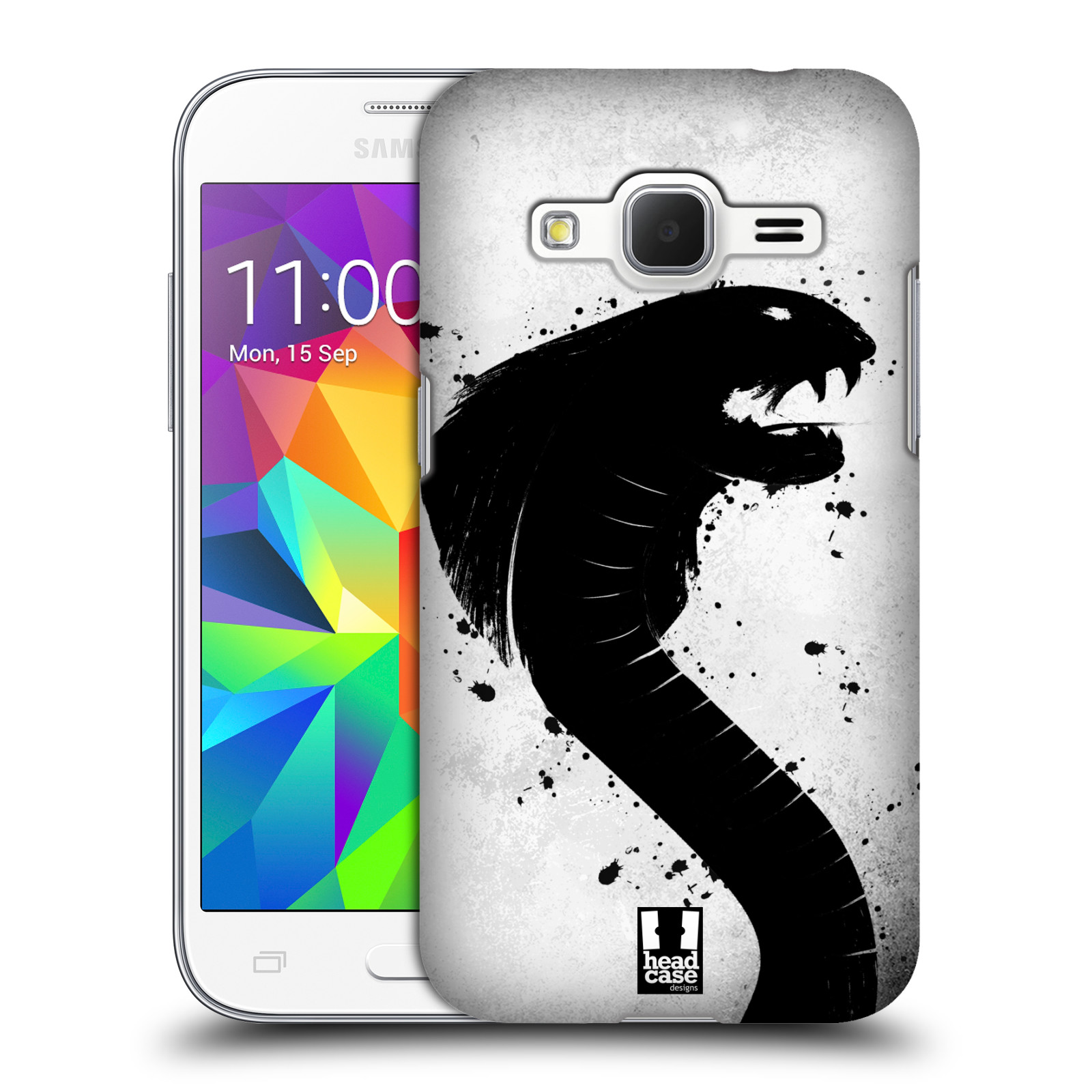 HEAD CASE plastový obal na mobil SAMSUNG GALAXY Core Prime (Core Prime VE) vzor Kresba tuš zvíře had kobra