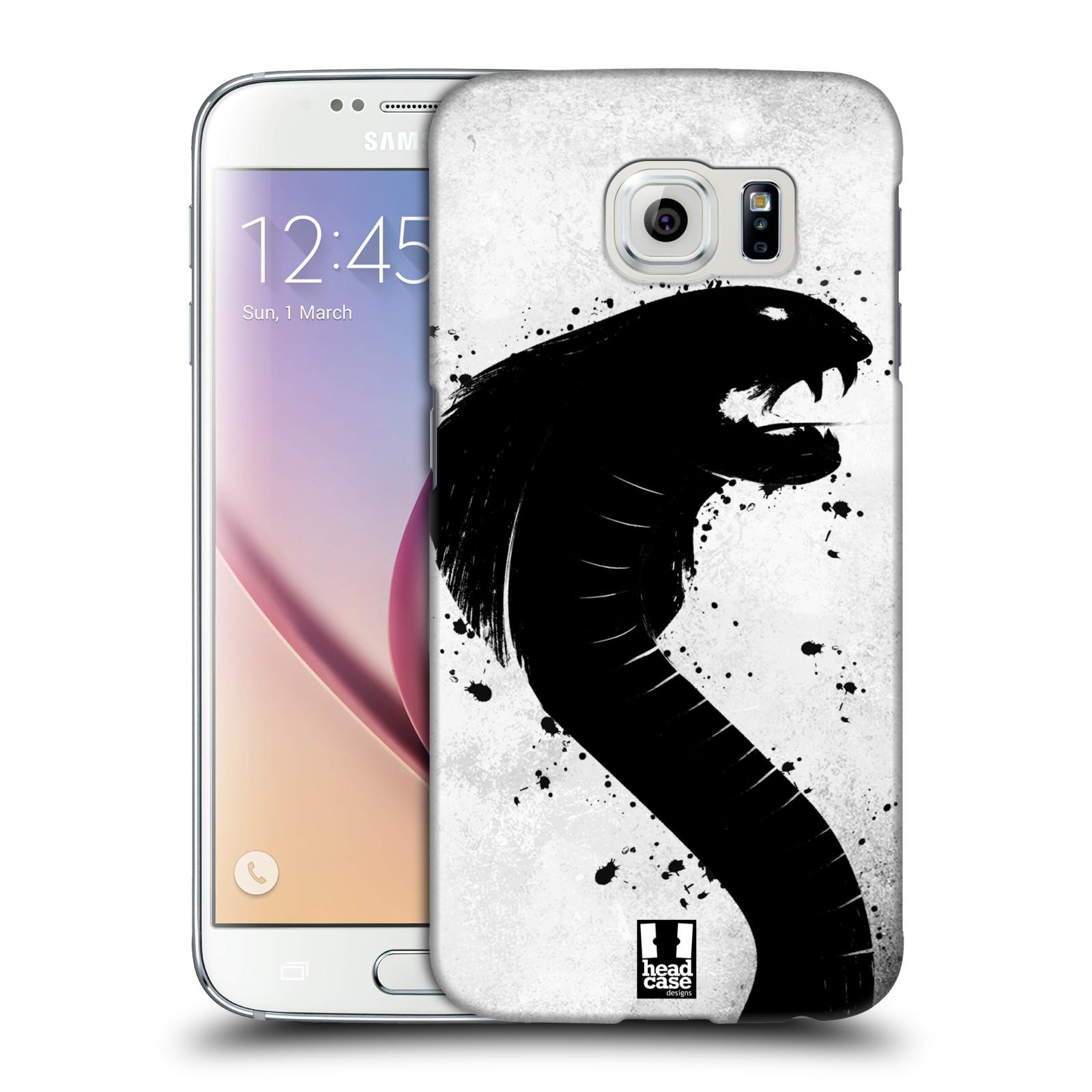 HEAD CASE plastový obal na mobil SAMSUNG Galaxy S6 (G9200, G920F) vzor Kresba tuš zvíře had kobra