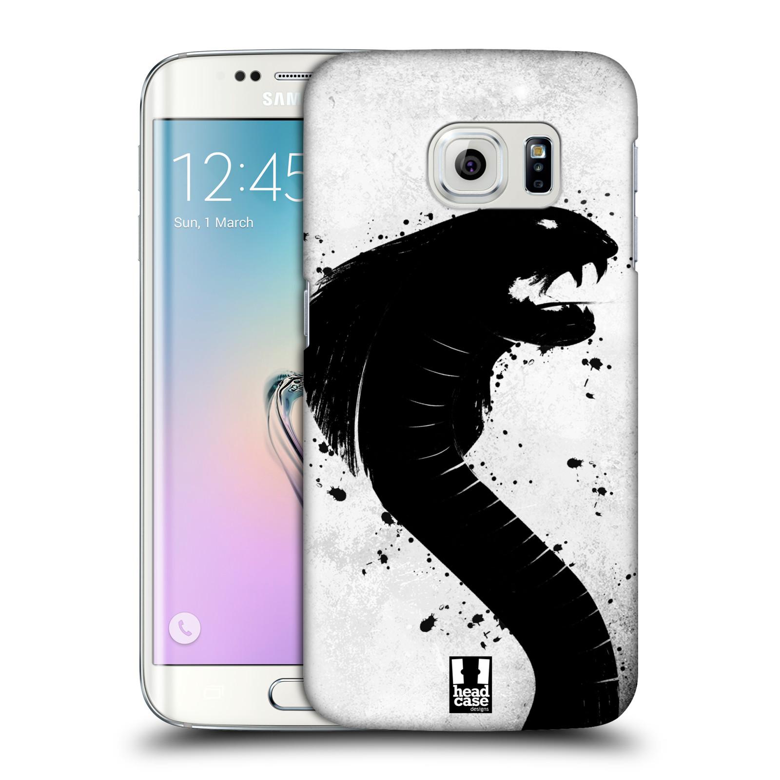 HEAD CASE plastový obal na mobil SAMSUNG Galaxy S6 EDGE (G9250, G925, G925F) vzor Kresba tuš zvíře had kobra