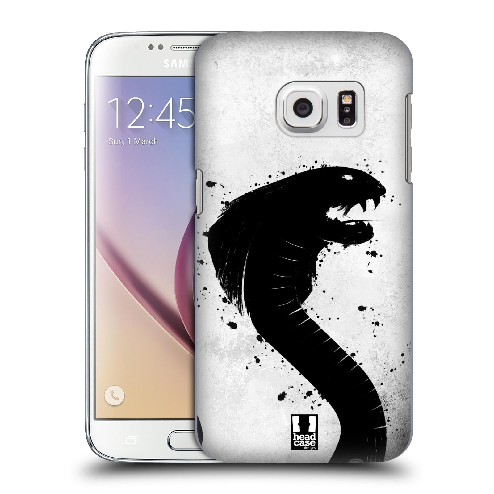 HEAD CASE plastový obal na mobil SAMSUNG GALAXY S7 vzor Kresba tuš zvíře had kobra