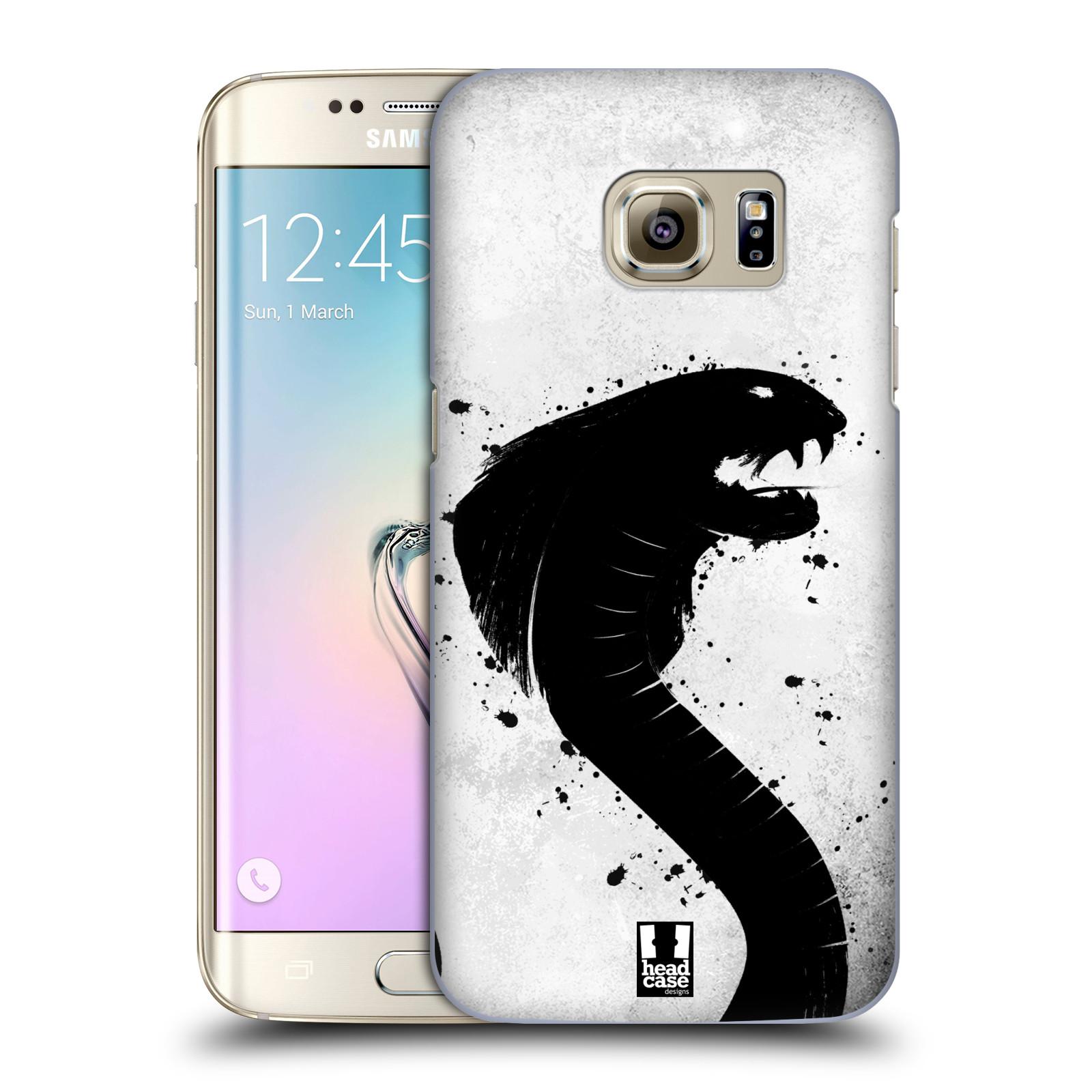 HEAD CASE plastový obal na mobil SAMSUNG GALAXY S7 EDGE vzor Kresba tuš zvíře had kobra