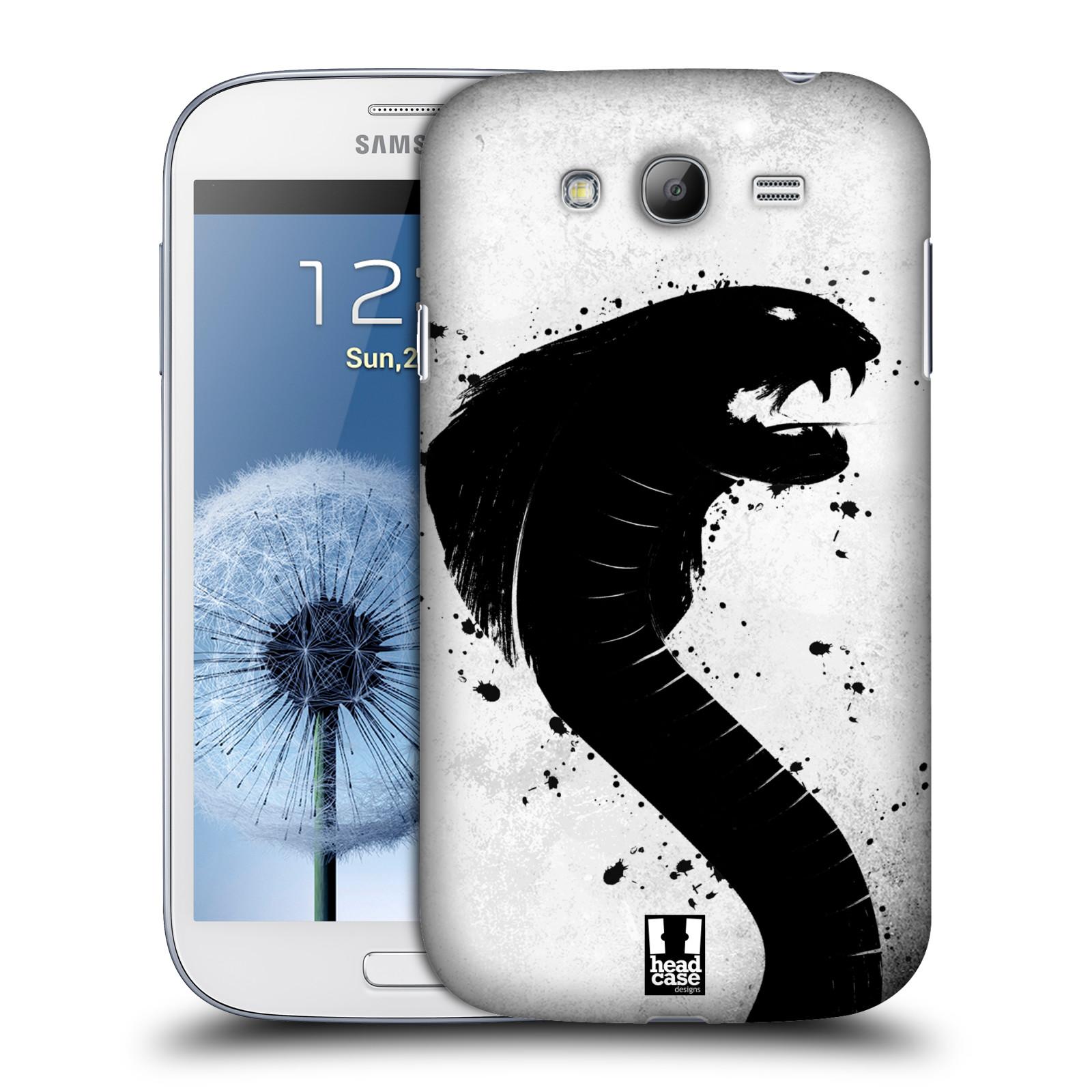 HEAD CASE plastový obal na mobil SAMSUNG GALAXY Grand i9080 vzor Kresba tuš zvíře had kobra