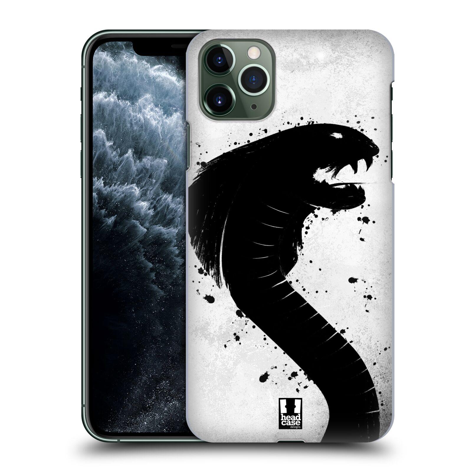 Pouzdro na mobil Apple Iphone 11 PRO MAX - HEAD CASE - vzor Kresba tuš zvíře had kobra