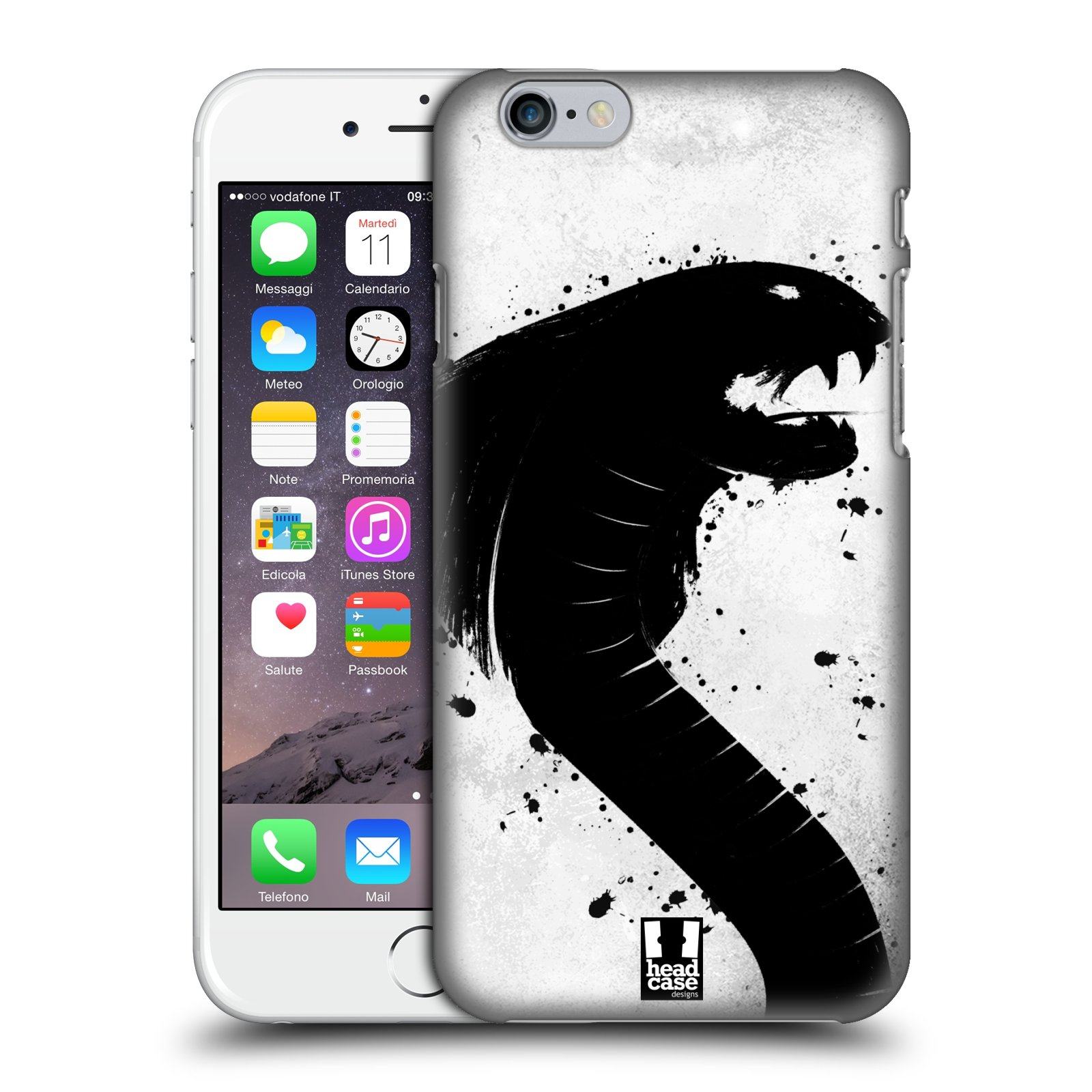 Plastové pouzdro pro mobil Apple Iphone 6/6S vzor Kresba tuš zvíře had kobra