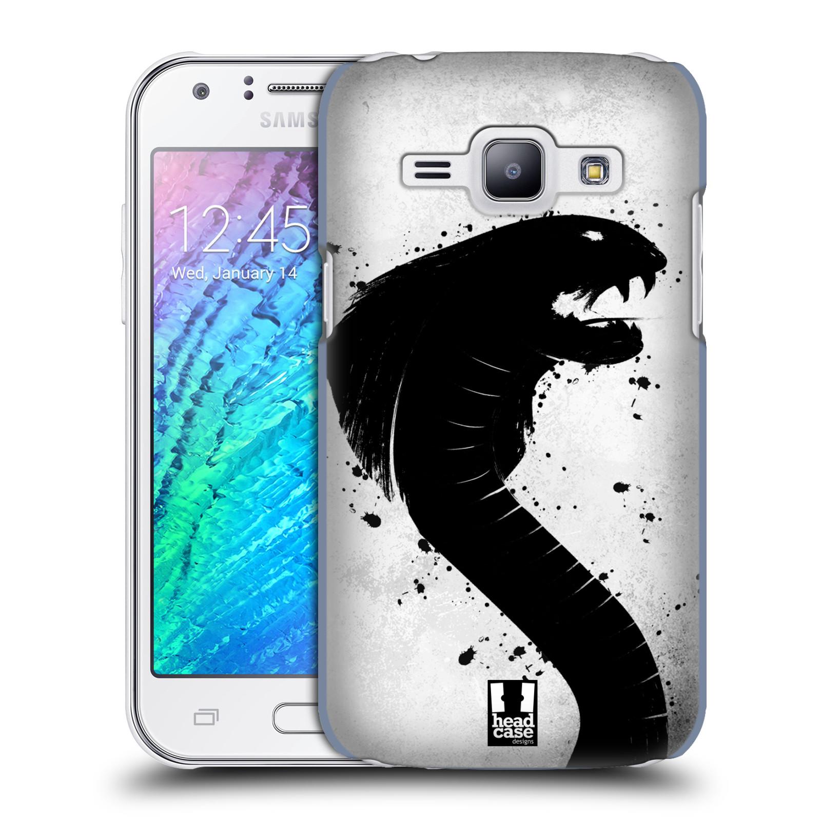HEAD CASE plastový obal na mobil SAMSUNG Galaxy J1, J100 vzor Kresba tuš zvíře had kobra