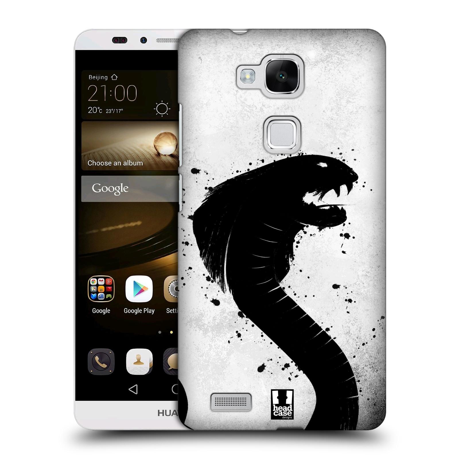 HEAD CASE plastový obal na mobil Huawei Mate 7 vzor Kresba tuš zvíře had kobra