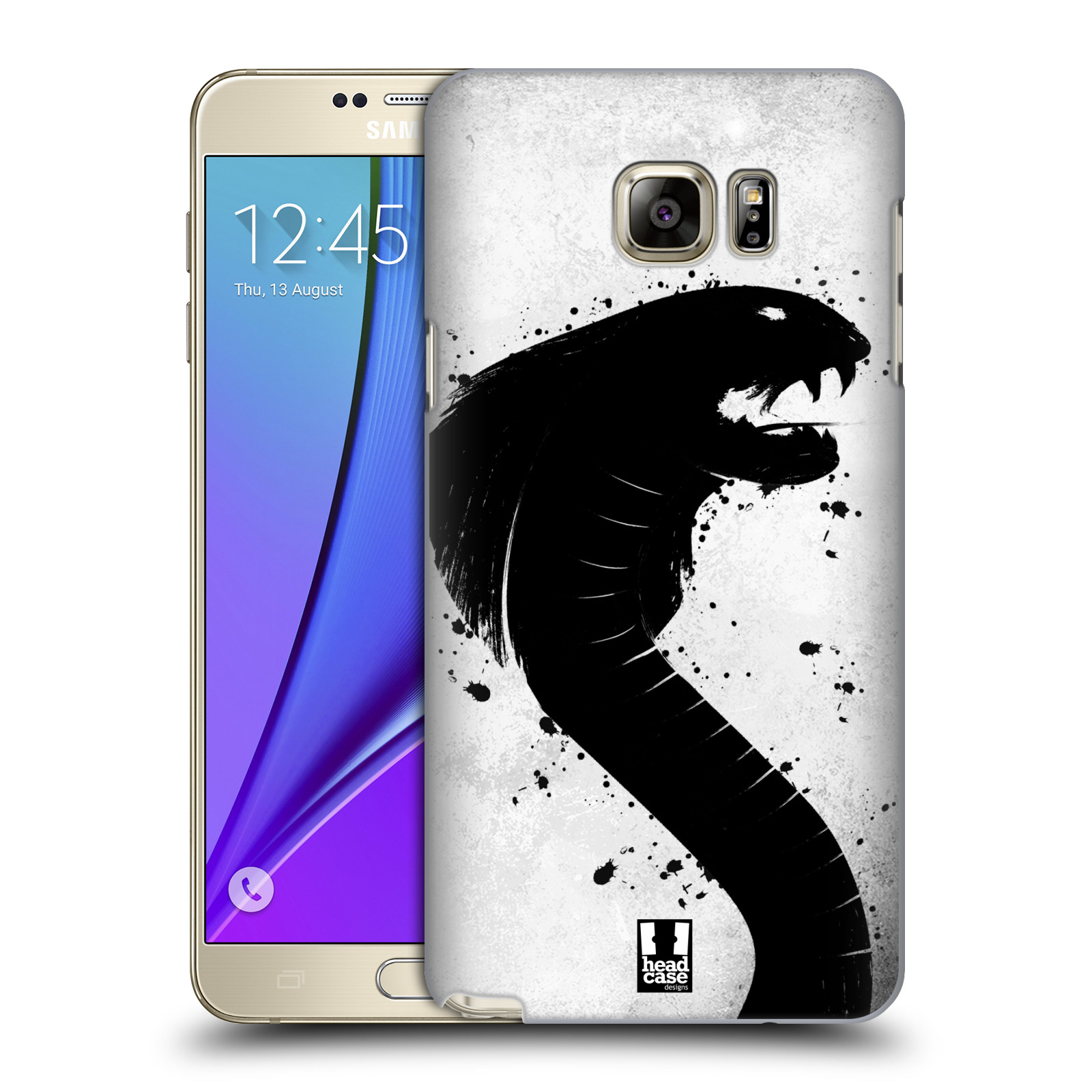 HEAD CASE plastový obal na mobil SAMSUNG Galaxy Note 5 (N920) vzor Kresba tuš zvíře had kobra