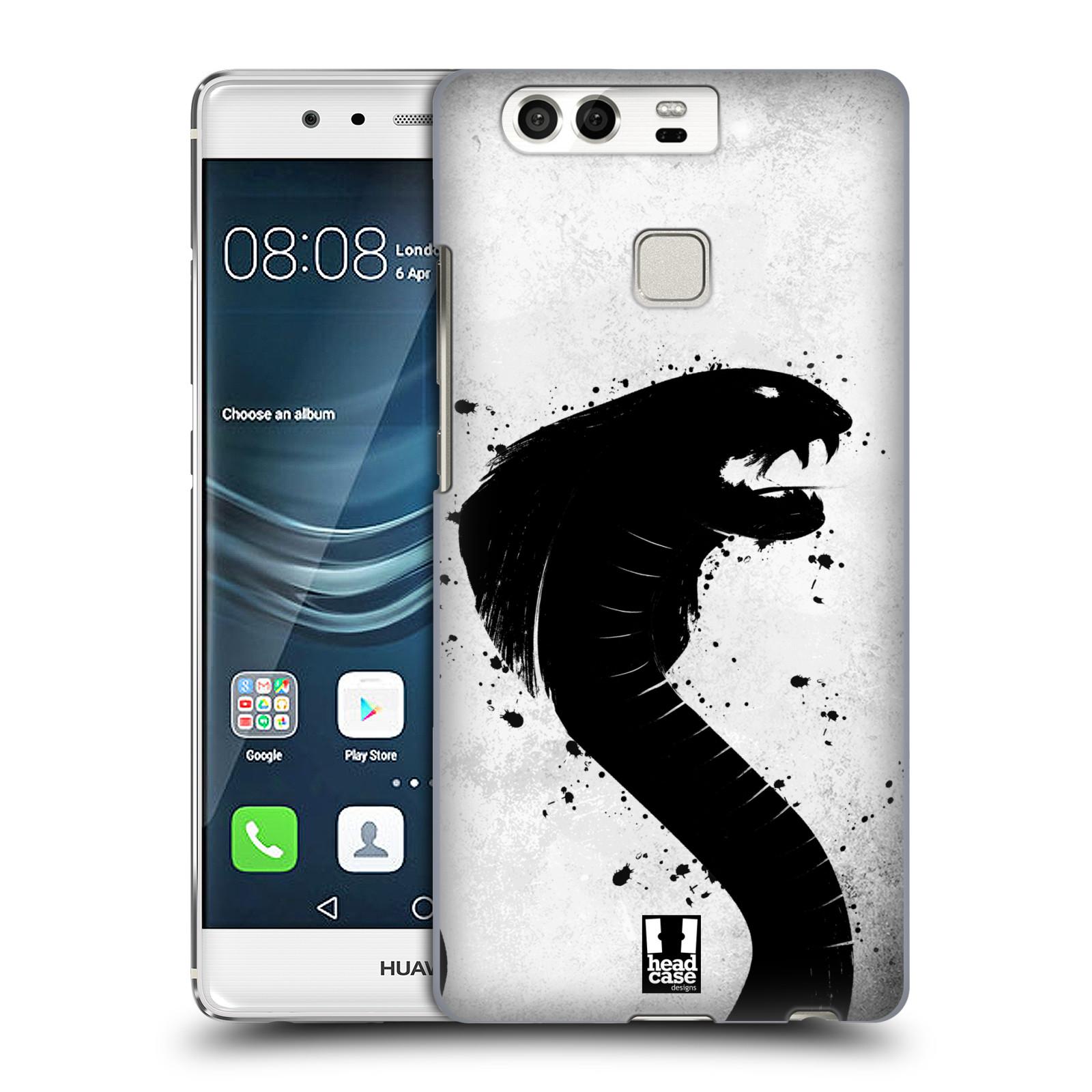 HEAD CASE plastový obal na mobil Huawei P9 / P9 DUAL SIM vzor Kresba tuš zvíře had kobra