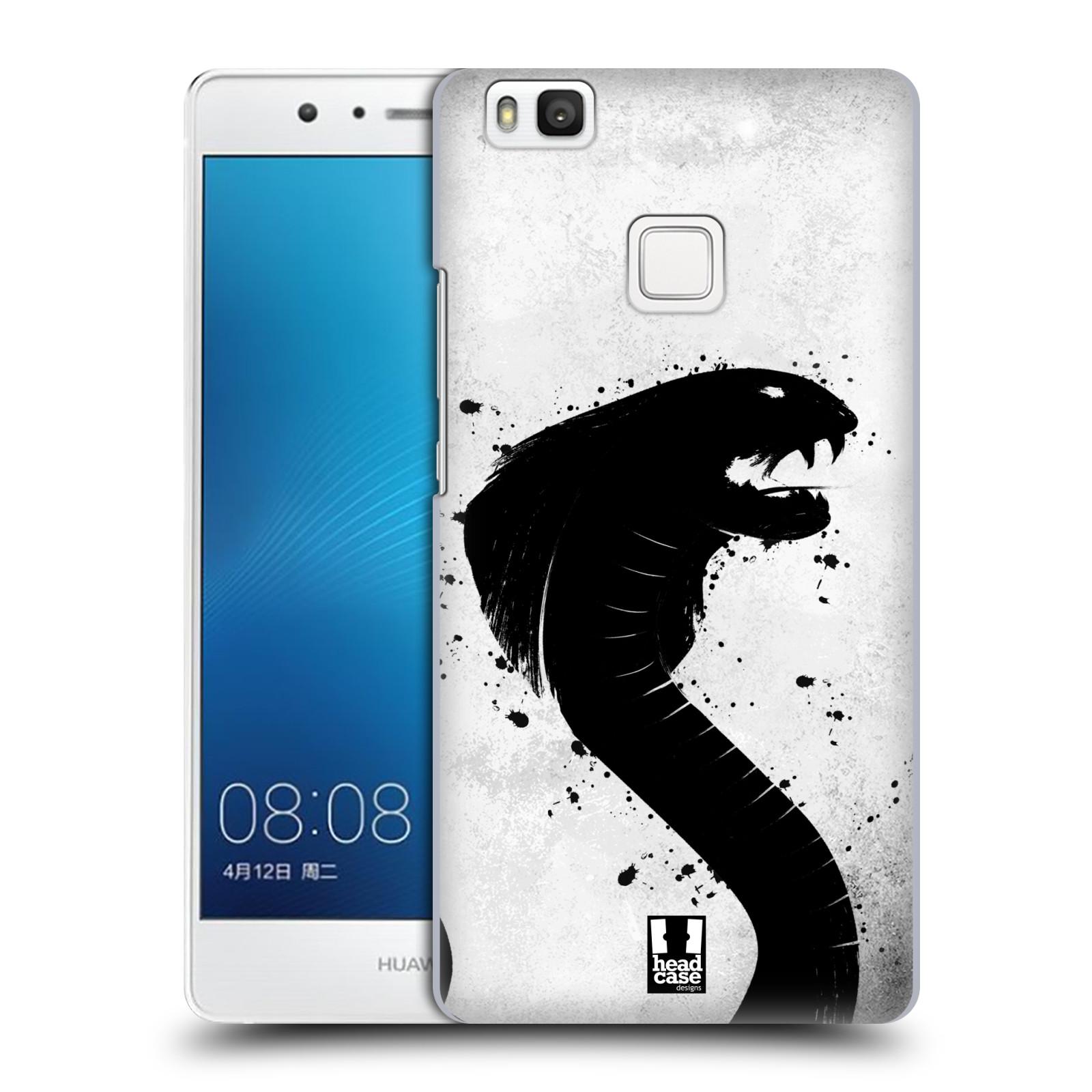 HEAD CASE plastový obal na mobil Huawei P9 LITE / P9 LITE DUAL SIM vzor Kresba tuš zvíře had kobra