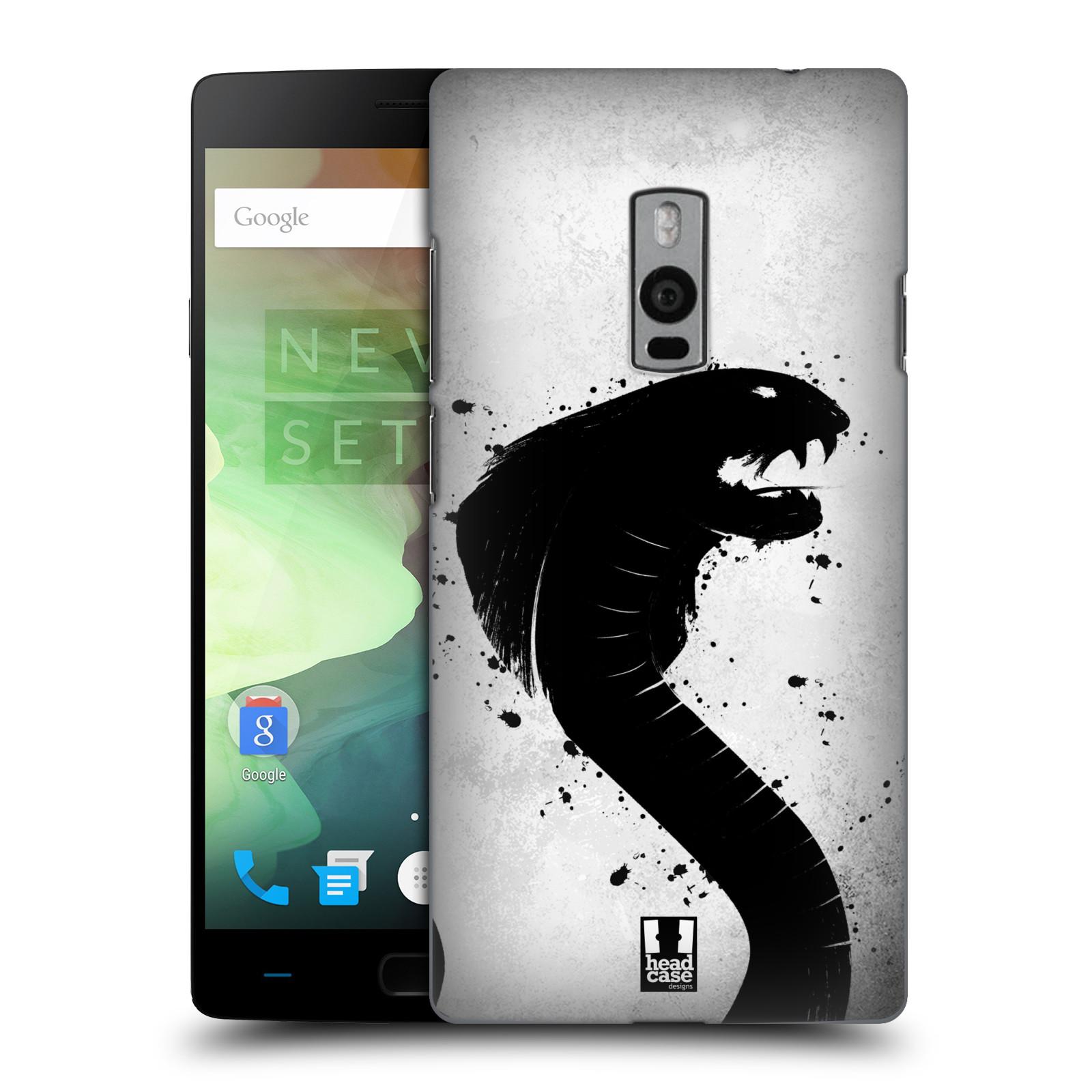 HEAD CASE pevný plastový obal na mobil OnePlus 2  ( TWO ) vzor Kresba tuš zvíře had kobra