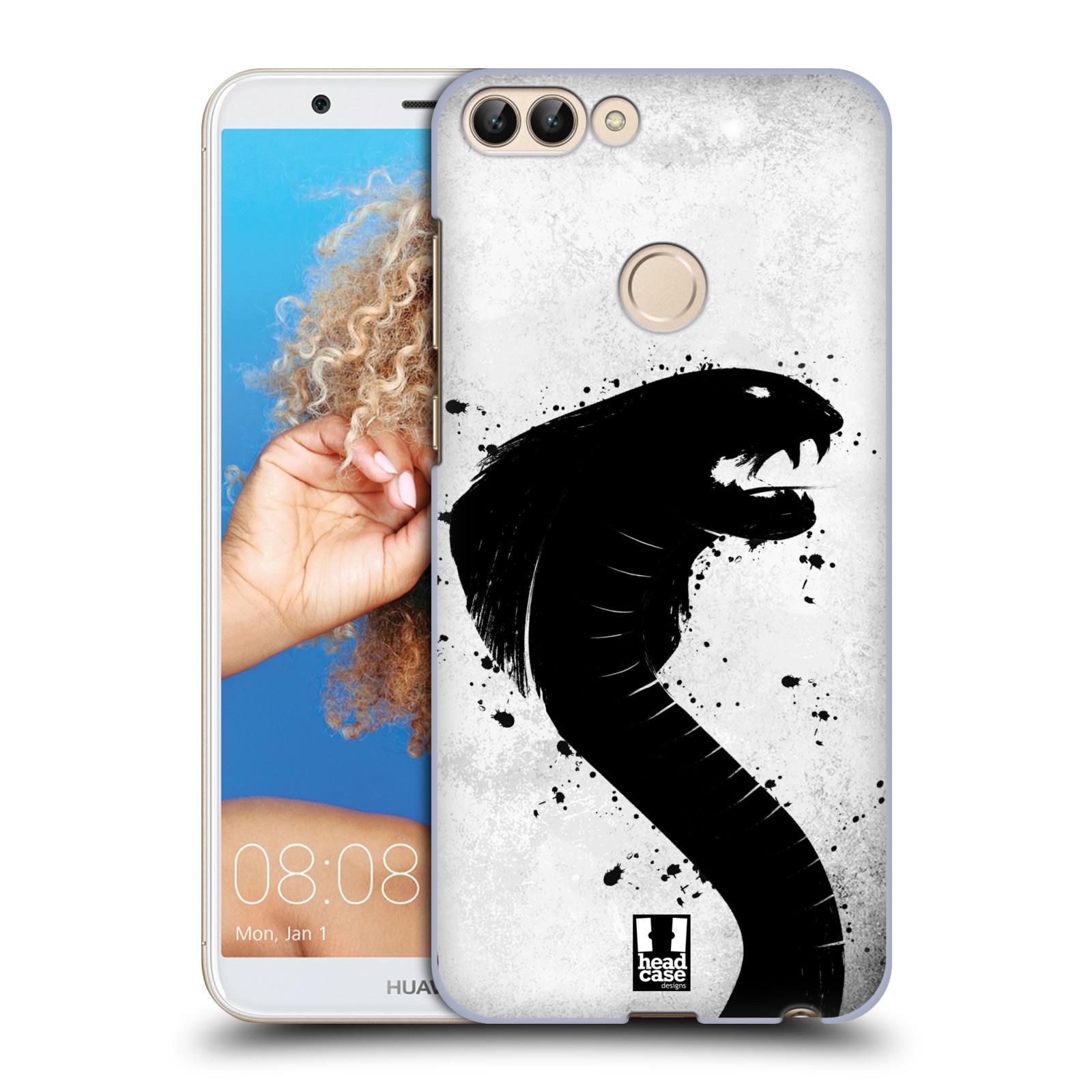 HEAD CASE plastový obal na mobil Huawei P Smart vzor Kresba tuš zvíře had kobra