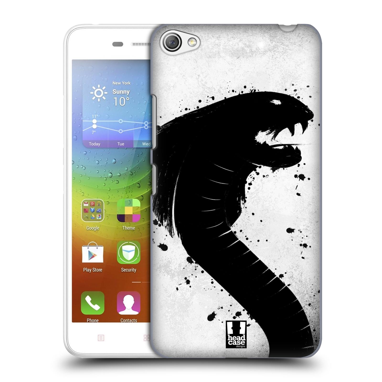 HEAD CASE pevný plastový obal na mobil LENOVO S60 / LENOVO S60 DUAL SIM vzor Kresba tuš zvíře had kobra