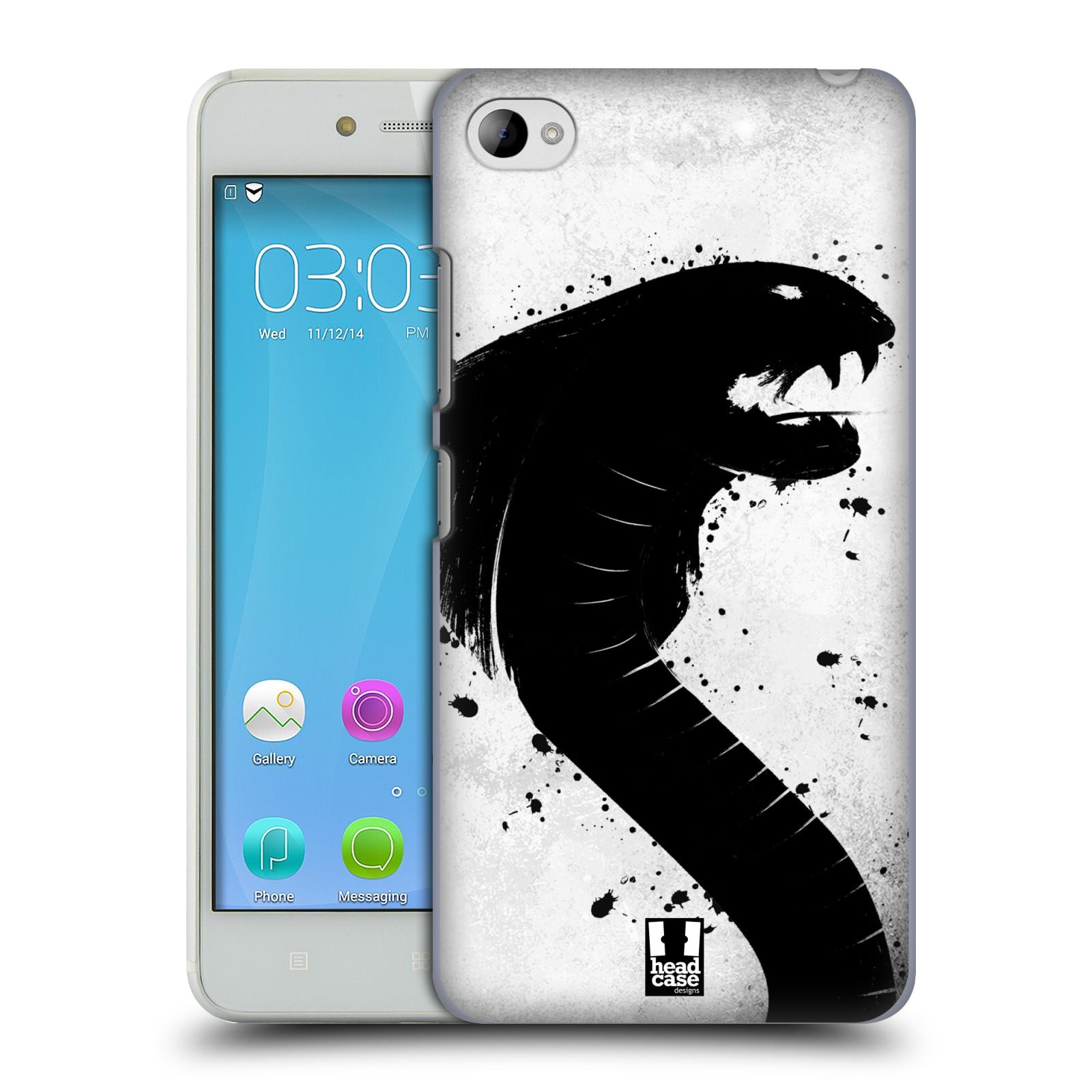 HEAD CASE pevný plastový obal na mobil LENOVO S90 vzor Kresba tuš zvíře had kobra