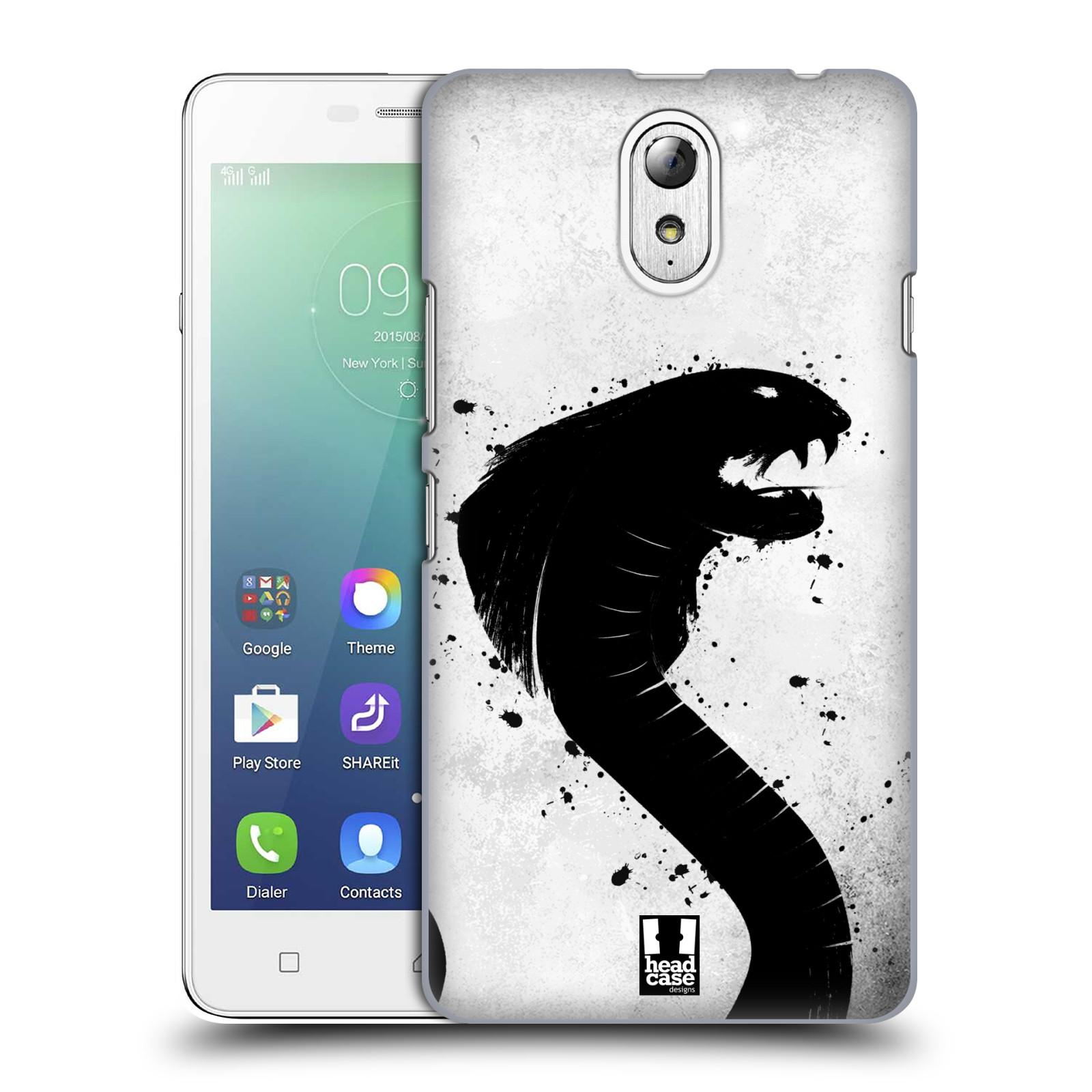 HEAD CASE pevný plastový obal na mobil LENOVO VIBE P1m / LENOVO VIBE p1m DUAL SIM vzor Kresba tuš zvíře had kobra