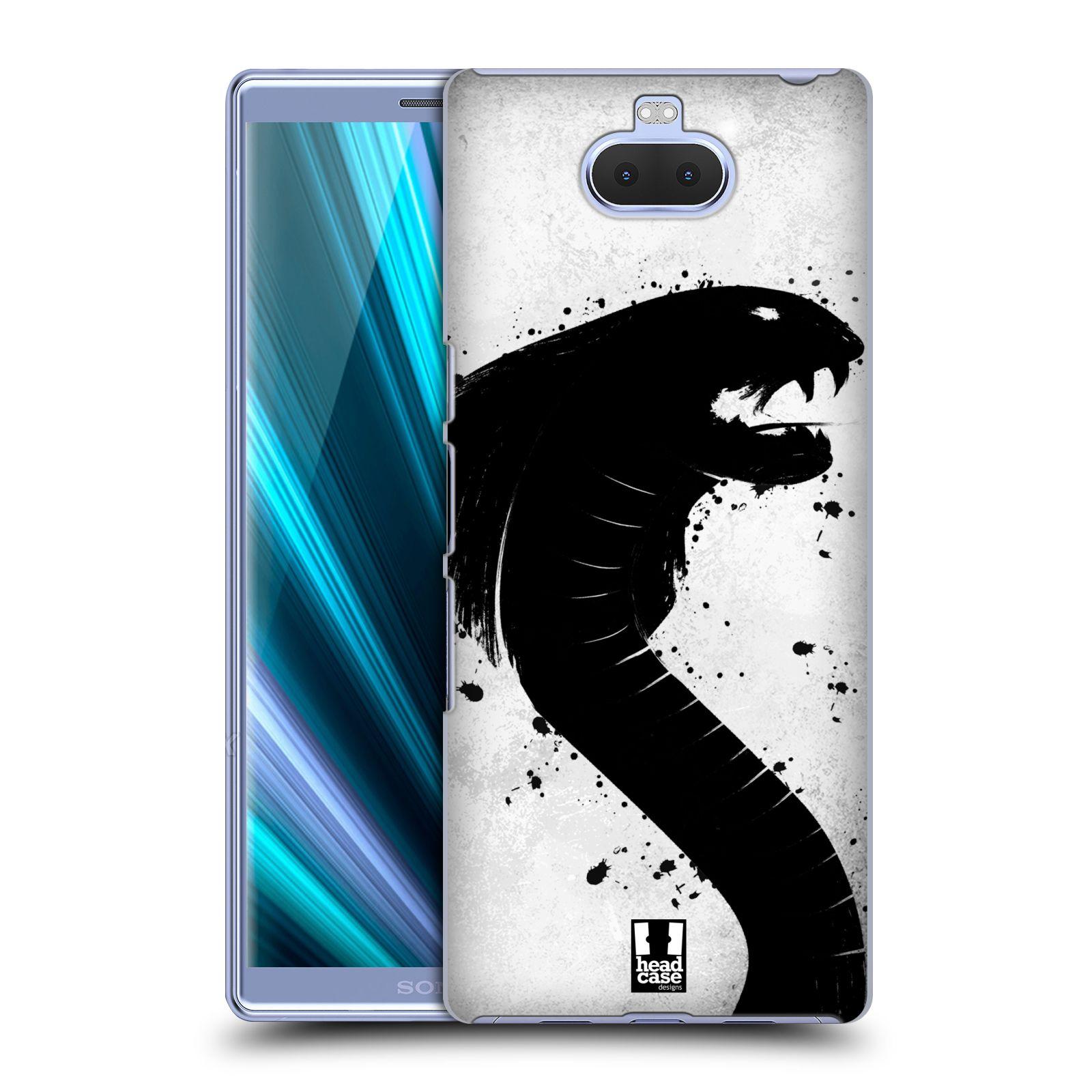Pouzdro na mobil Sony Xperia 10 - Head Case - vzor Kresba tuš zvíře had kobra