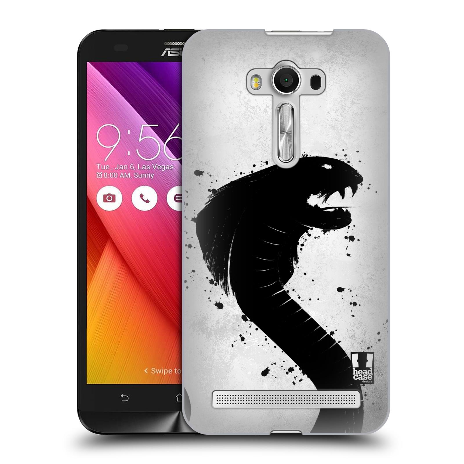 HEAD CASE plastový obal na mobil Asus Zenfone 2 LASER (5,5 displej ZE550KL) vzor Kresba tuš zvíře had kobra