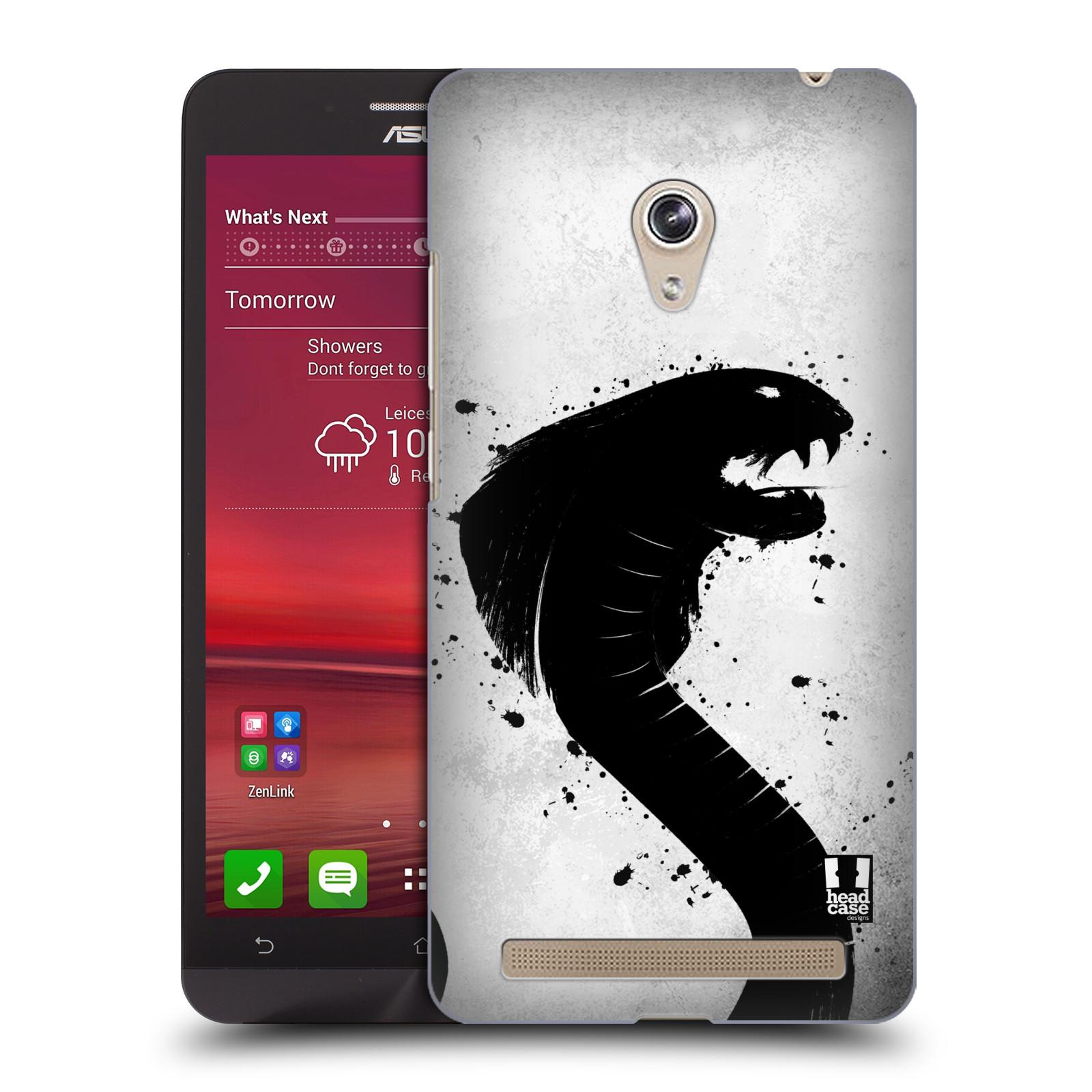 HEAD CASE plastový obal na mobil Asus Zenfone 6 vzor Kresba tuš zvíře had kobra