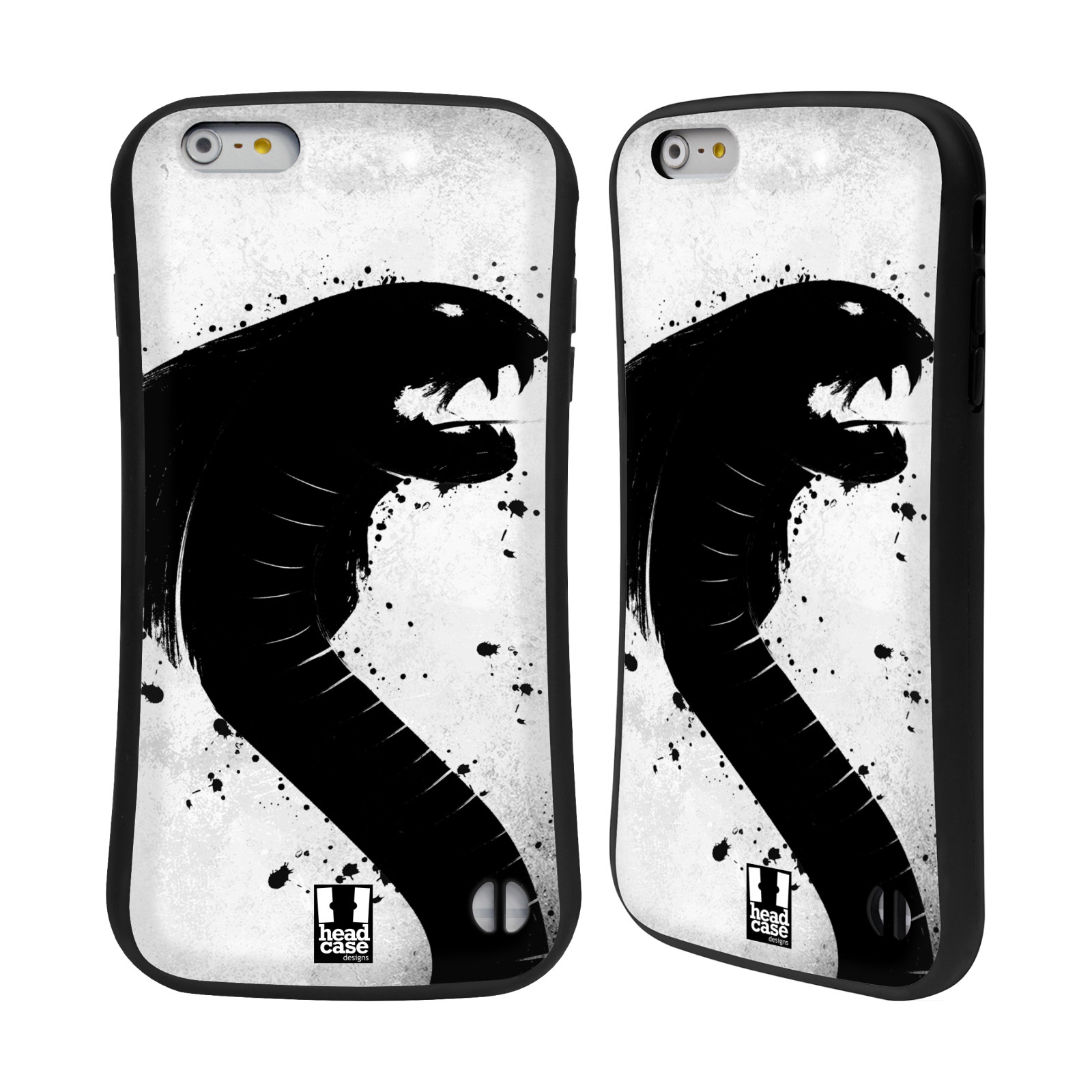 HEAD CASE silikon/plast odolný obal na mobil Apple Iphone 6 PLUS / 6S PLUS vzor Kresba tuš zvíře had kobra