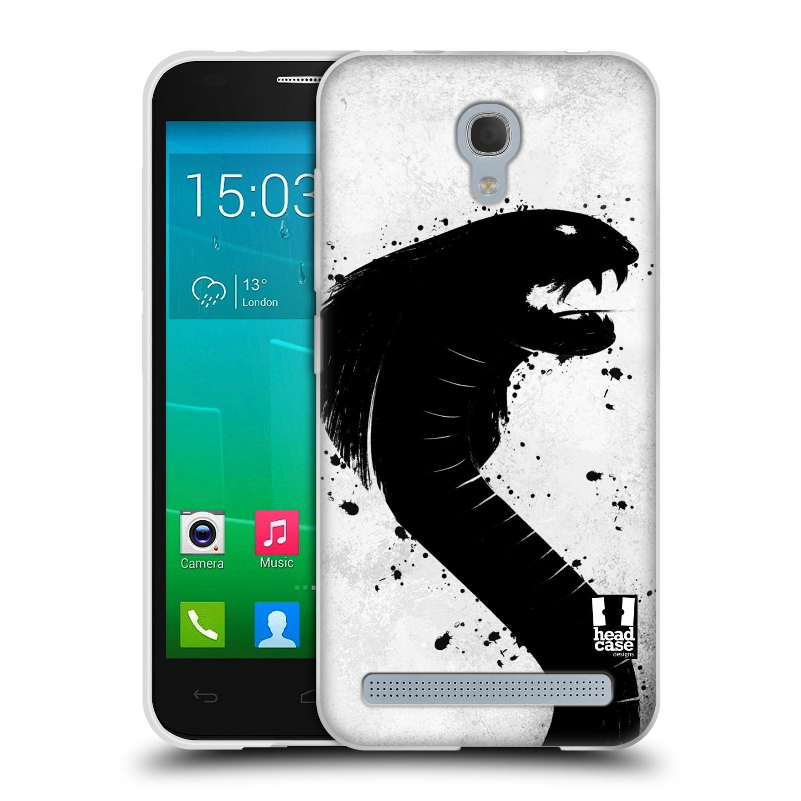 HEAD CASE silikonový obal na mobil Alcatel Idol 2 MINI S 6036Y vzor Kresba tuš zvíře had kobra