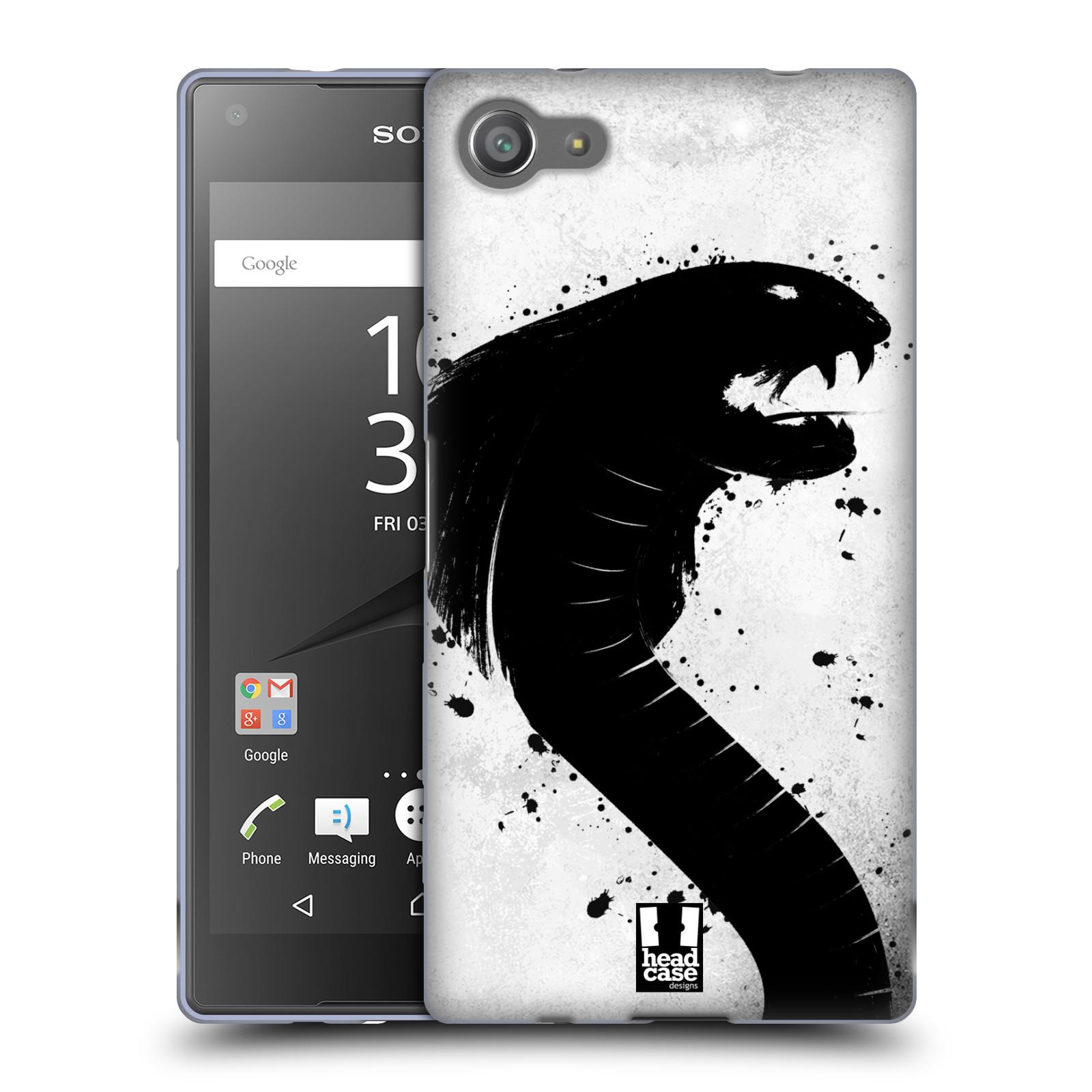 HEAD CASE silikonový obal na mobil Sony Xperia Z5 COMPACT vzor Kresba tuš zvíře had kobra