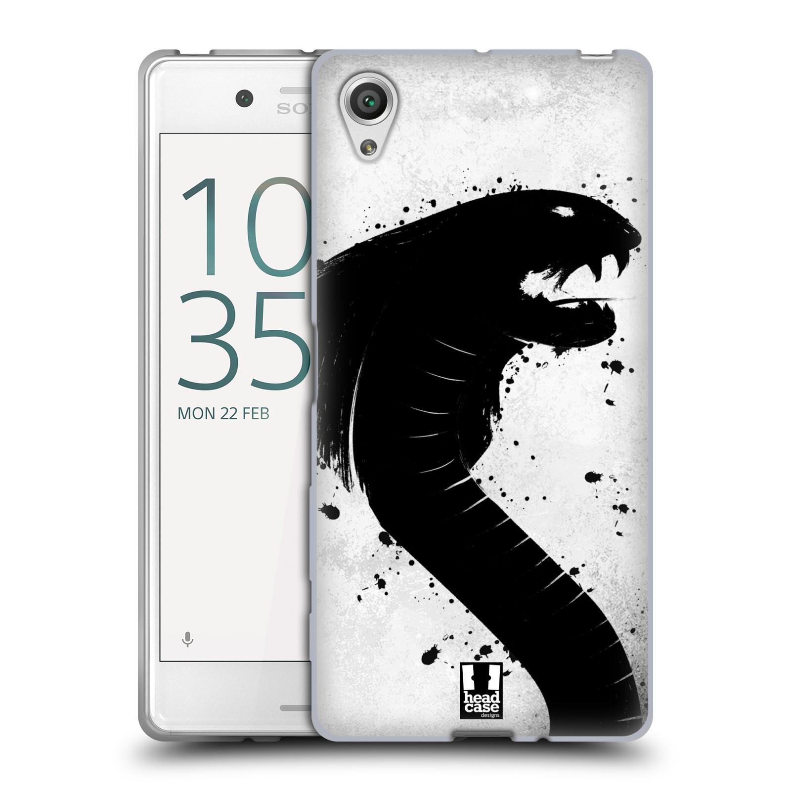 HEAD CASE silikonový obal na mobil Sony Xperia X / X DUAL vzor Kresba tuš zvíře had kobra