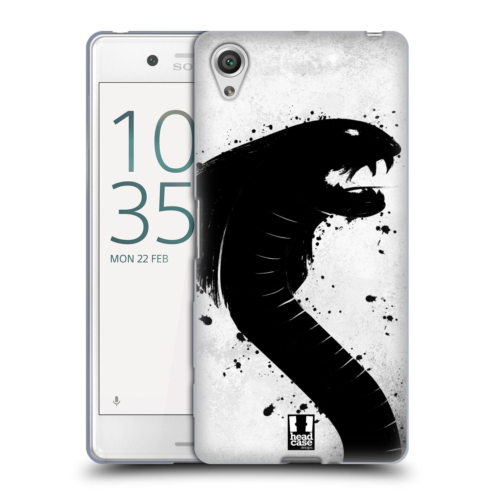 HEAD CASE silikonový obal na mobil Sony Xperia X PERFORMANCE (F8131, F8132) vzor Kresba tuš zvíře had kobra