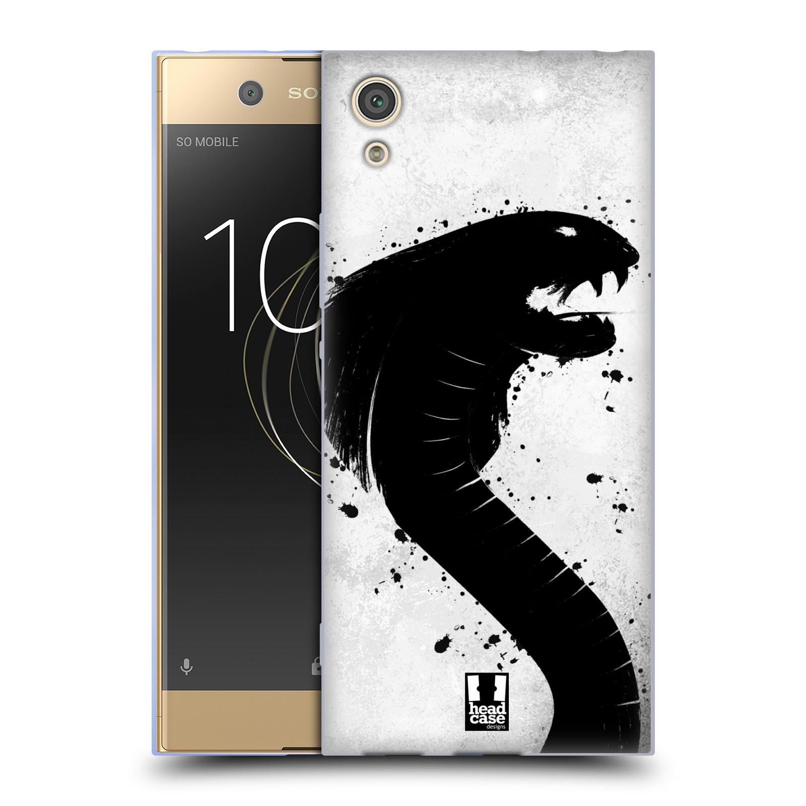 HEAD CASE silikonový obal na mobil Sony Xperia XA1 / XA1 DUAL SIM vzor Kresba tuš zvíře had kobra