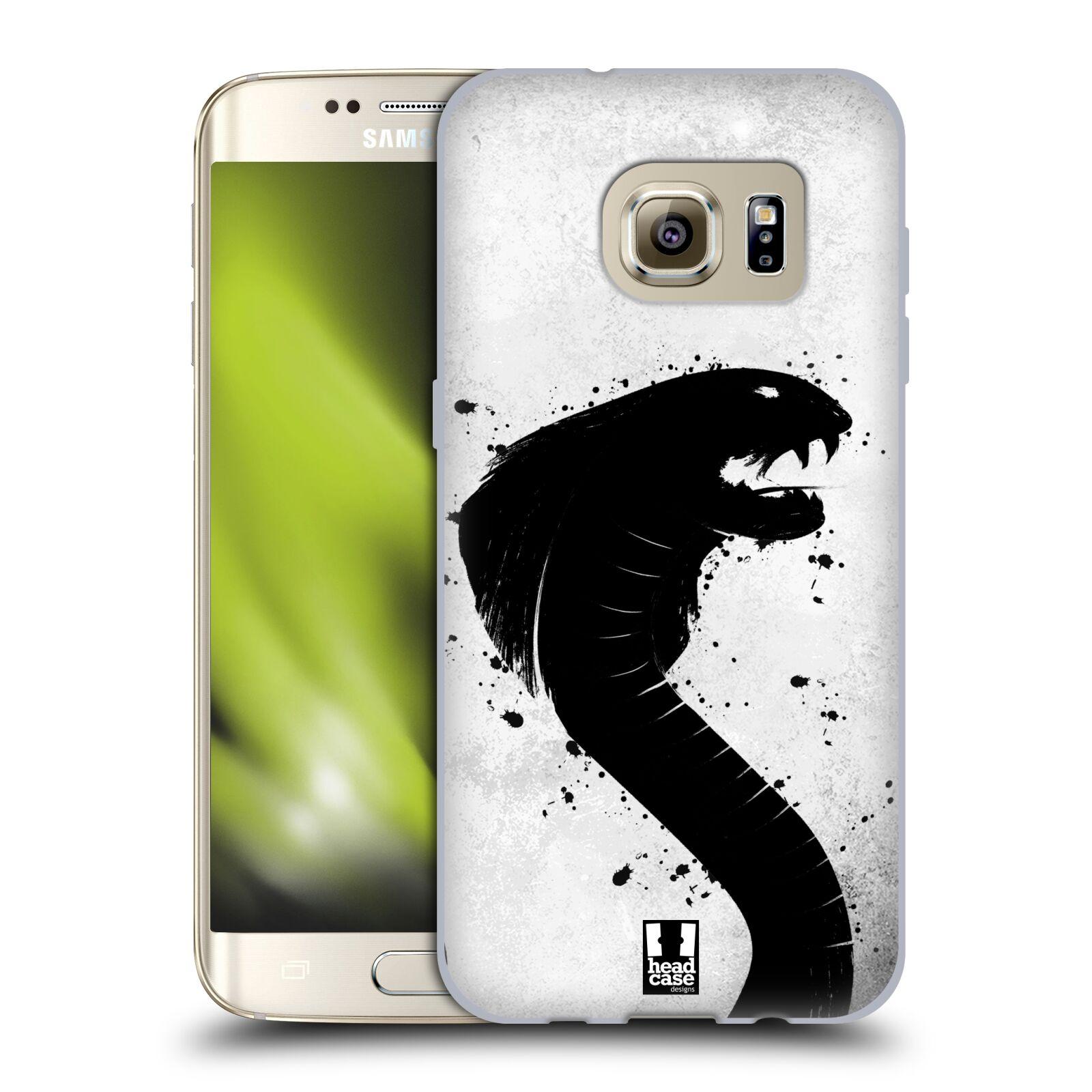 HEAD CASE silikonový obal na mobil Samsung Galaxy S7 EDGE (G9350) vzor Kresba tuš zvíře had kobra
