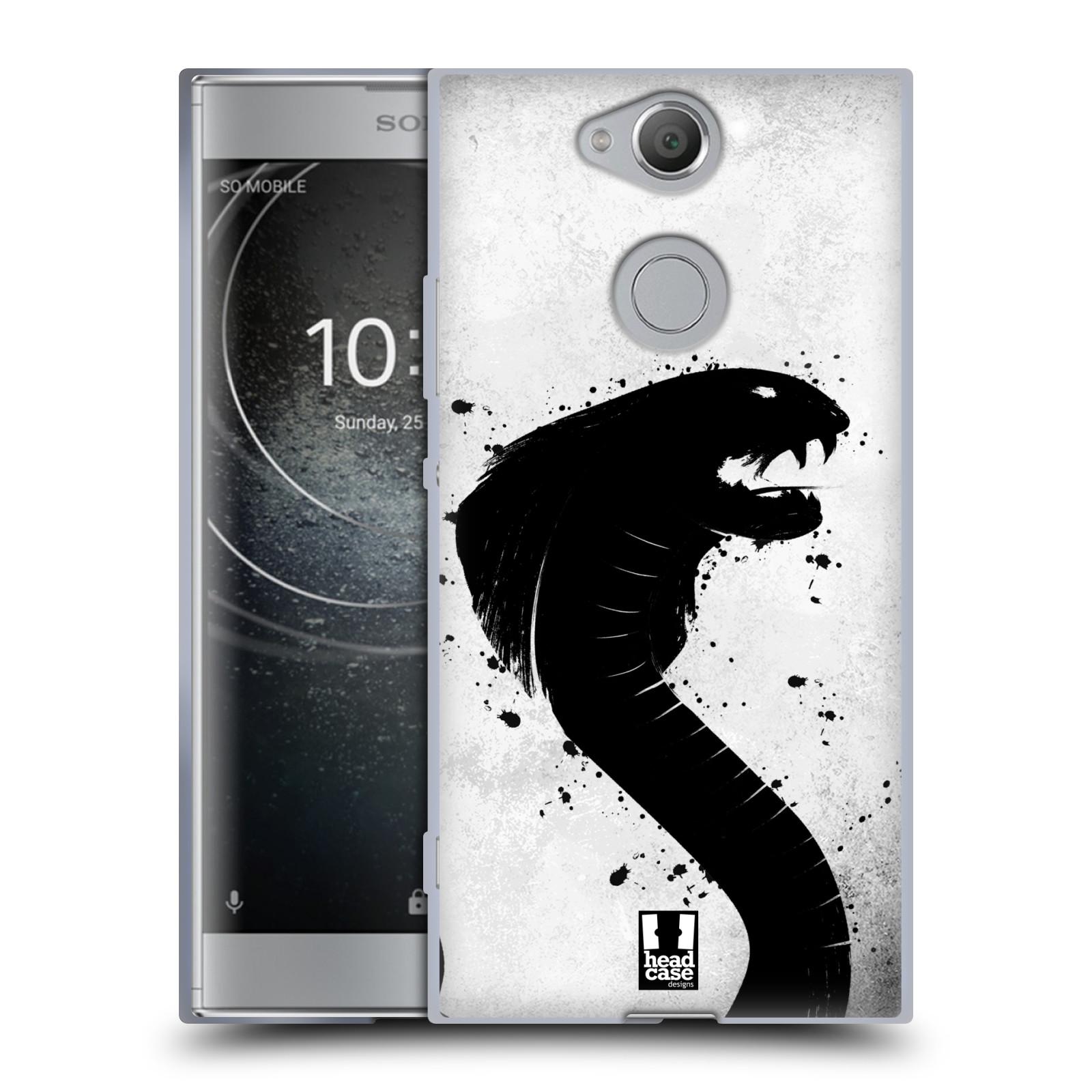 Pouzdro na mobil Sony Xperia XA2 (DUAL SIM, SINGLE SIM) vzor Kresba tuš zvíře had kobra