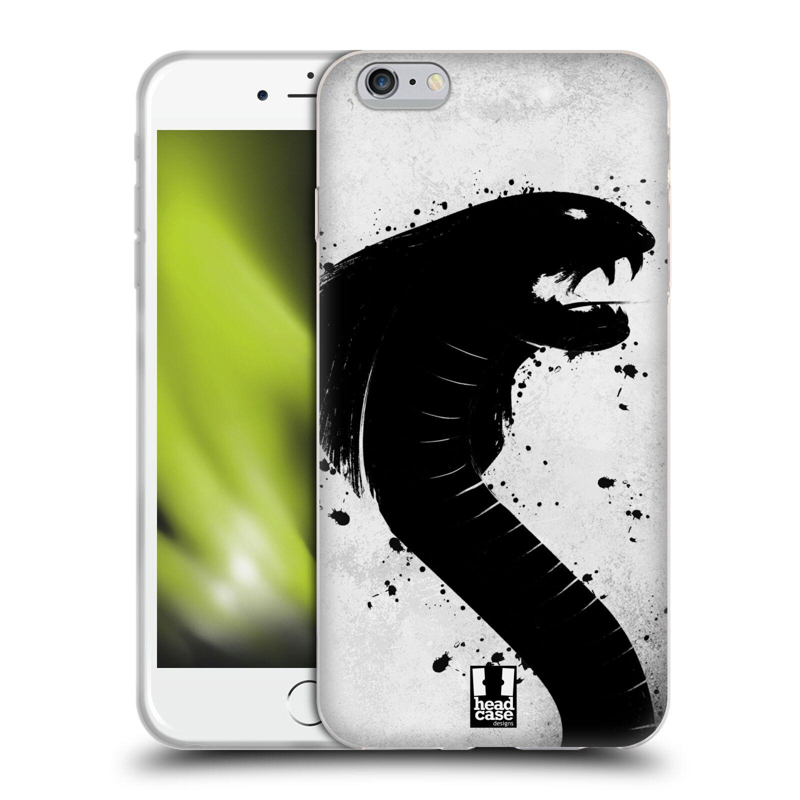 HEAD CASE silikonový obal na mobil Apple Iphone 6 PLUS/ 6S PLUS vzor Kresba tuš zvíře had kobra