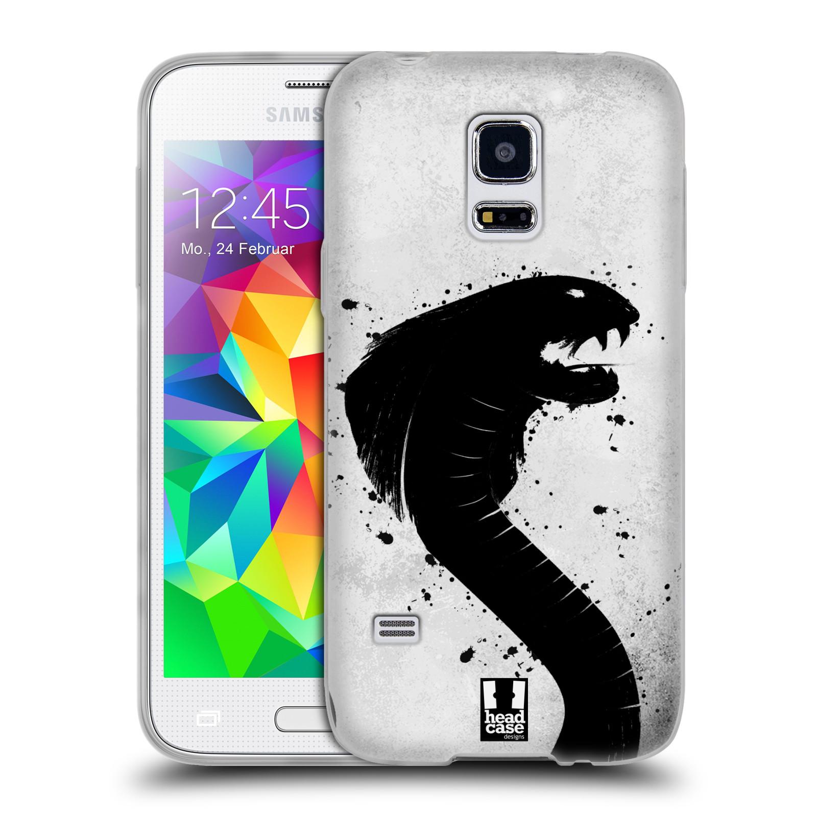 HEAD CASE silikonový obal na mobil Samsung Galaxy S5 MINI vzor Kresba tuš zvíře had kobra