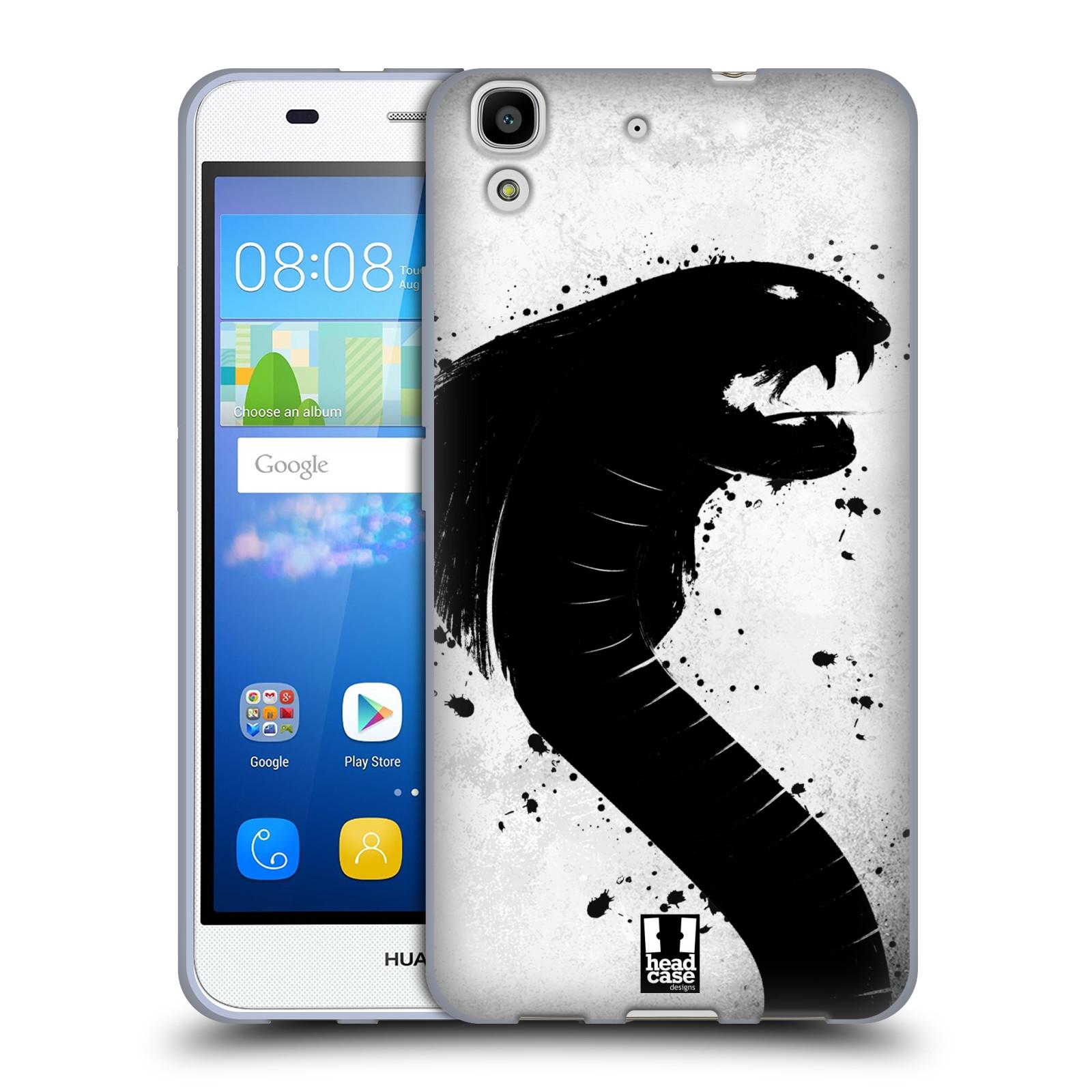 HEAD CASE silikonový obal na mobil HUAWEI Y6 vzor Kresba tuš zvíře had kobra