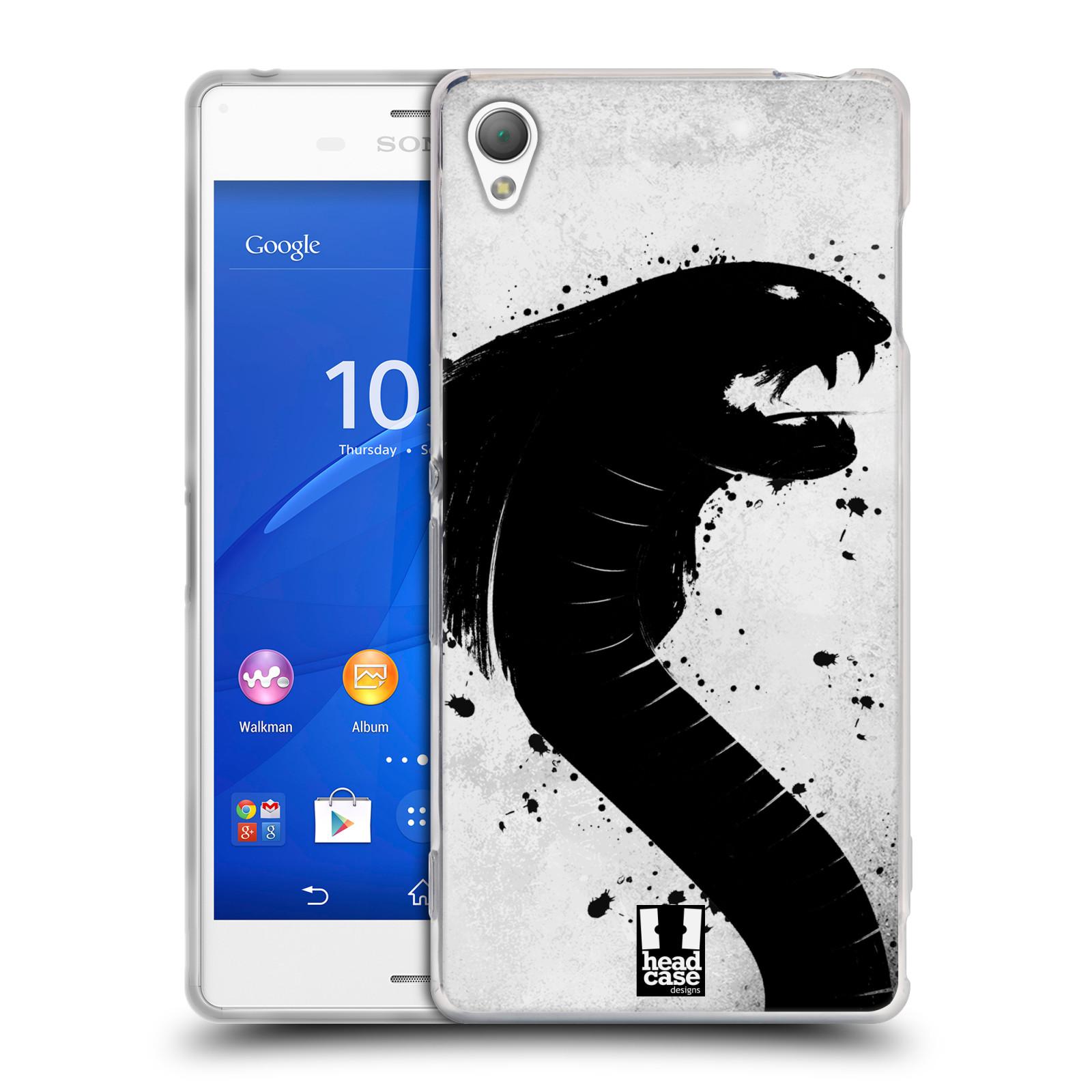 HEAD CASE silikonový obal na mobil Sony Xperia Z3 vzor Kresba tuš zvíře had kobra