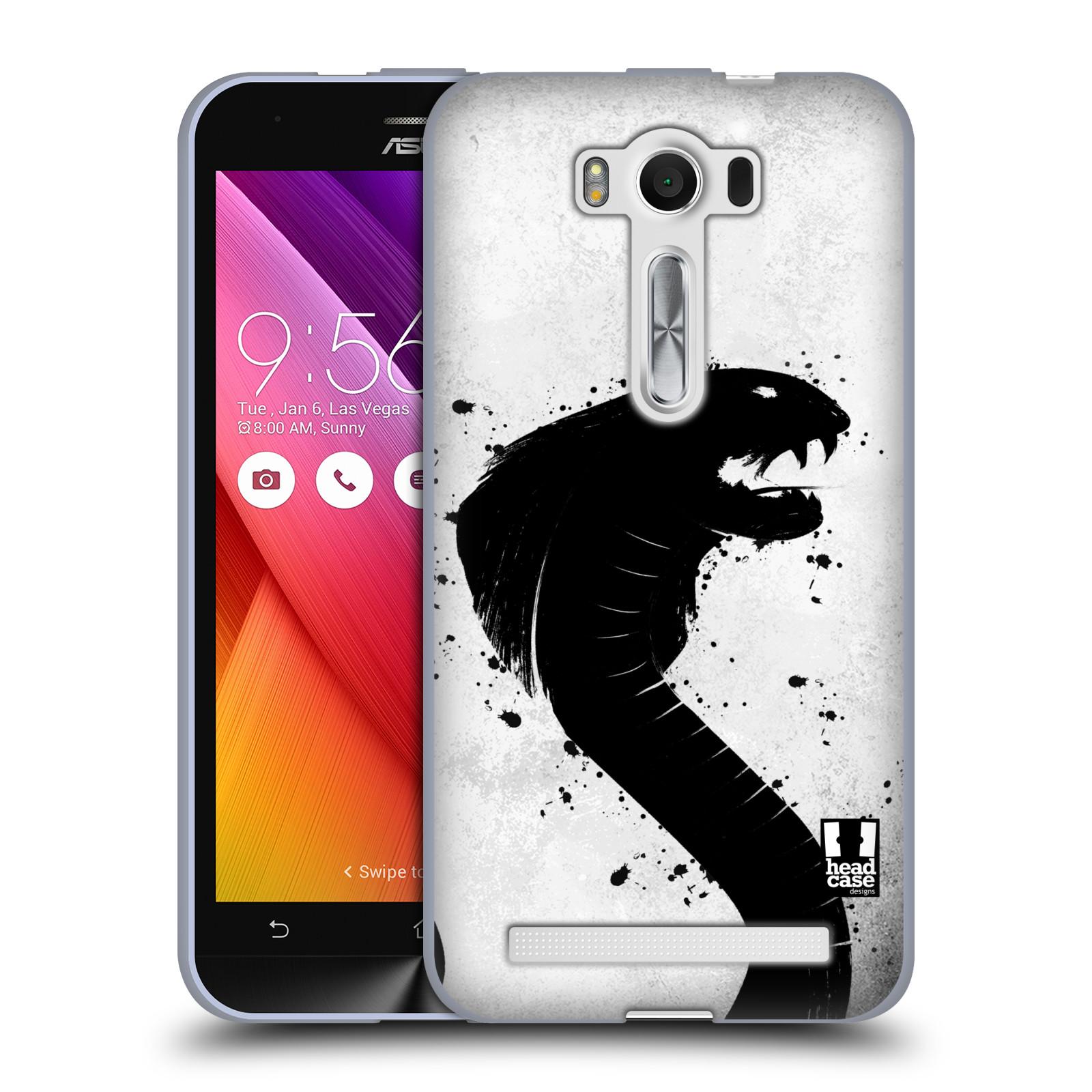 """HEAD CASE silikonový obal na mobil Asus Zenfone 2 LASER (ZE500KL s 5"""" displejem) vzor Kresba tuš zvíře had kobra"""
