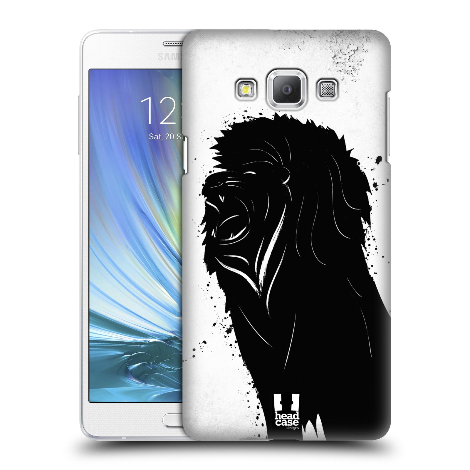 HEAD CASE plastový obal na mobil SAMSUNG GALAXY A7 vzor Kresba tuš zvíře lev