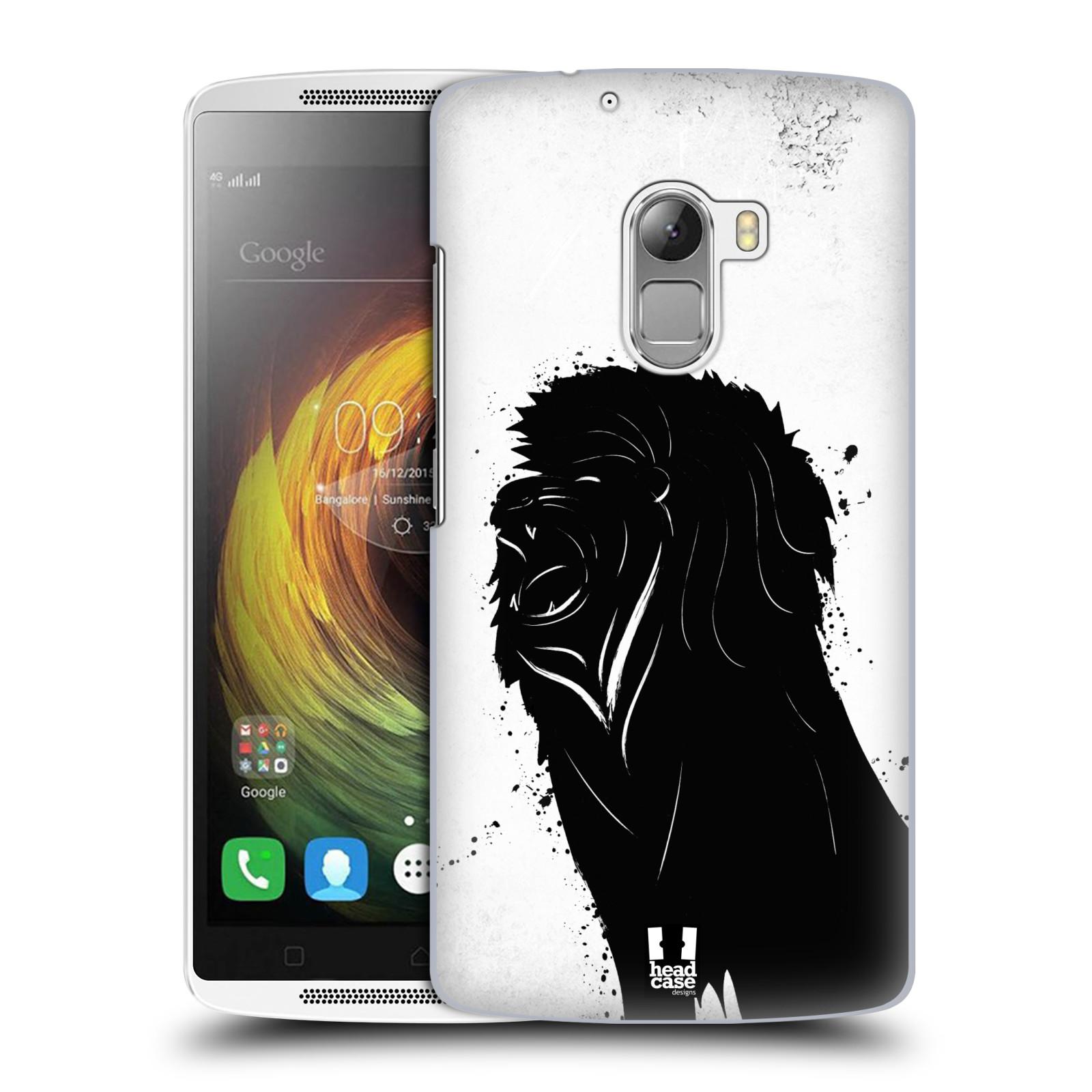 HEAD CASE pevný plastový obal na mobil LENOVO A7010 / A7010 DUAL / K4 Note / Vibe X3 lite vzor Kresba tuš zvíře lev