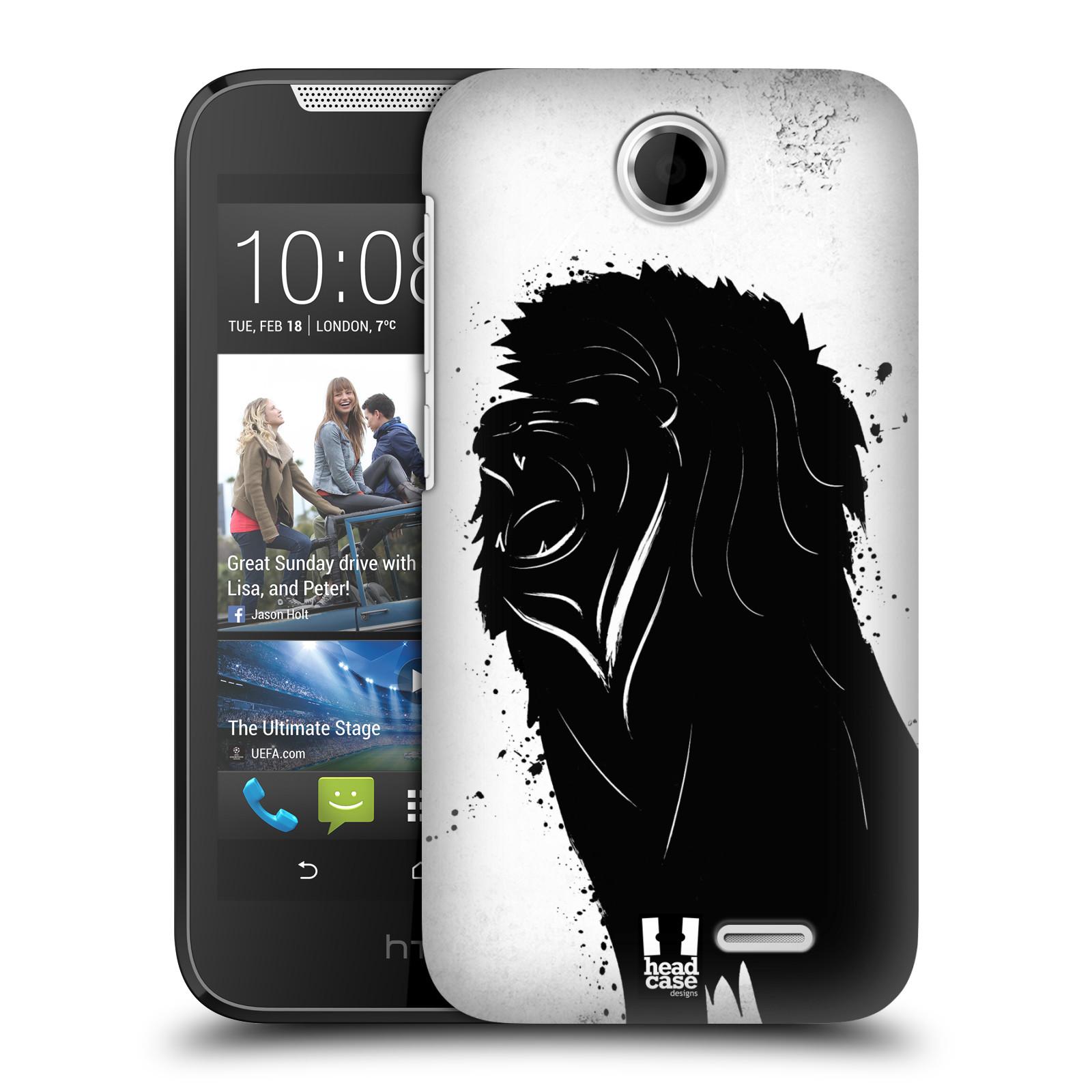HEAD CASE plastový obal na mobil HTC Desire 310 vzor Kresba tuš zvíře lev