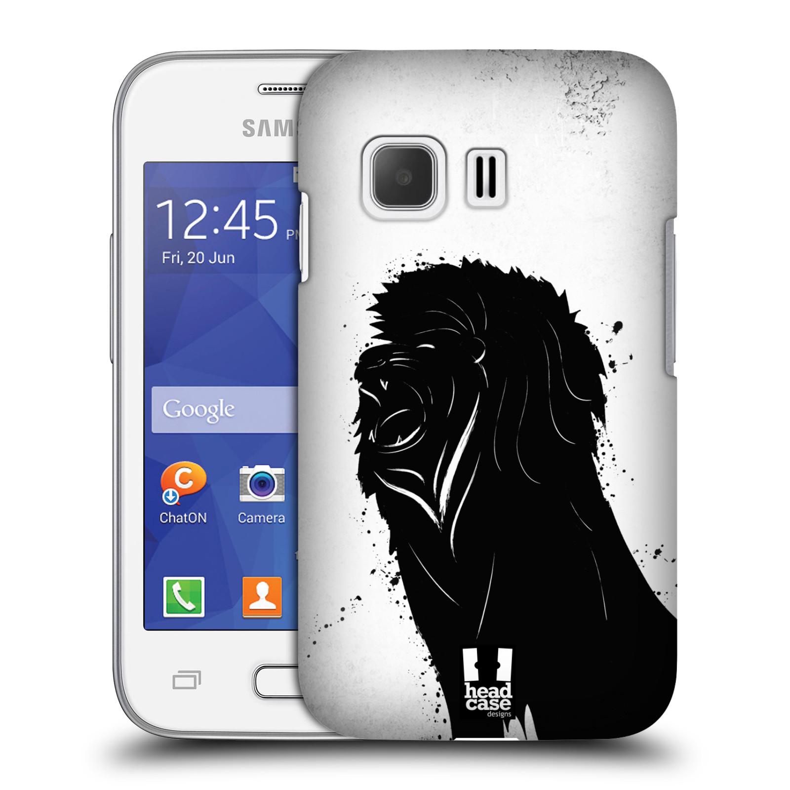 HEAD CASE plastový obal na mobil SAMSUNG Galaxy Young 2 (G130) vzor Kresba tuš zvíře lev