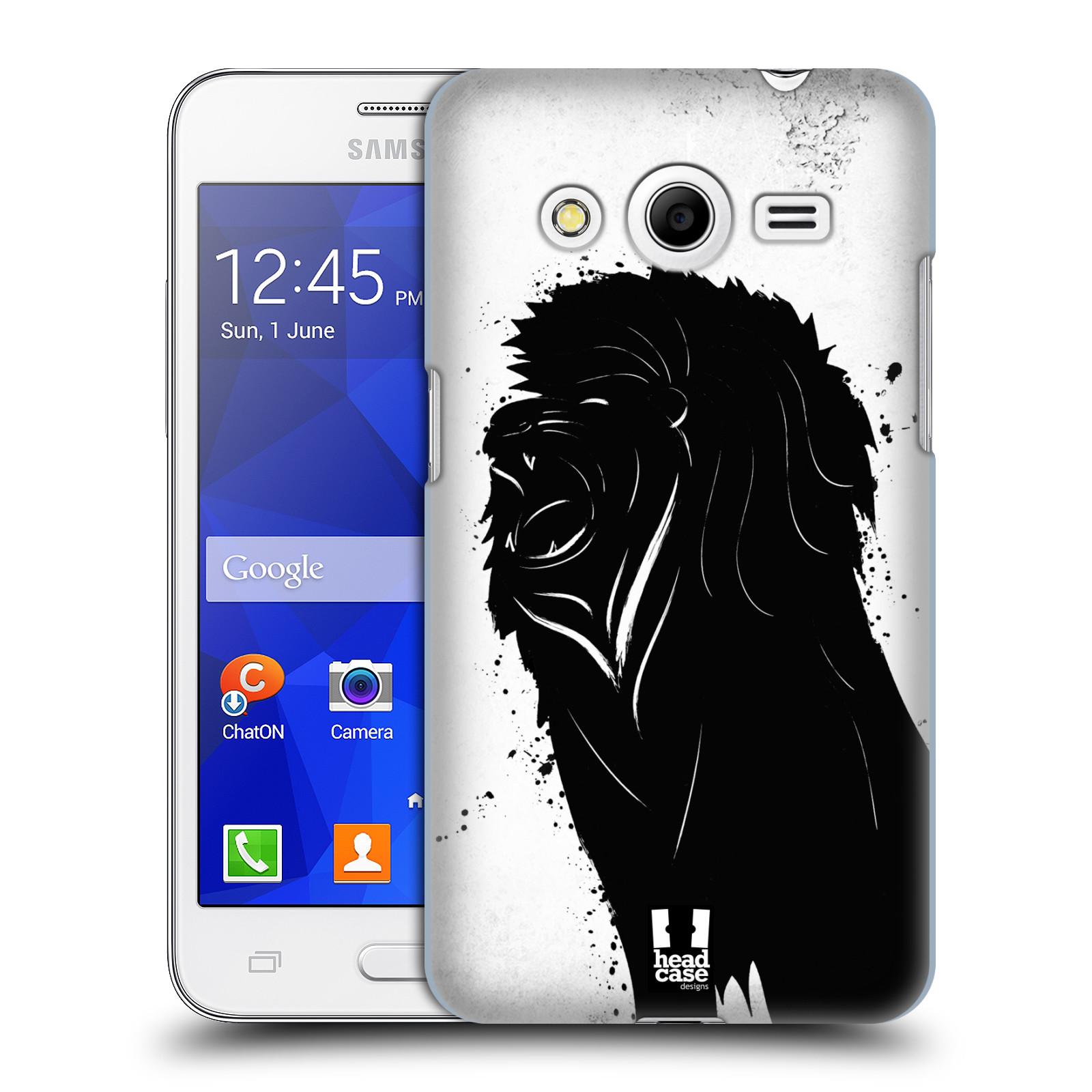 HEAD CASE plastový obal na mobil SAMSUNG GALAXY Core 2 (G355H) vzor Kresba tuš zvíře lev