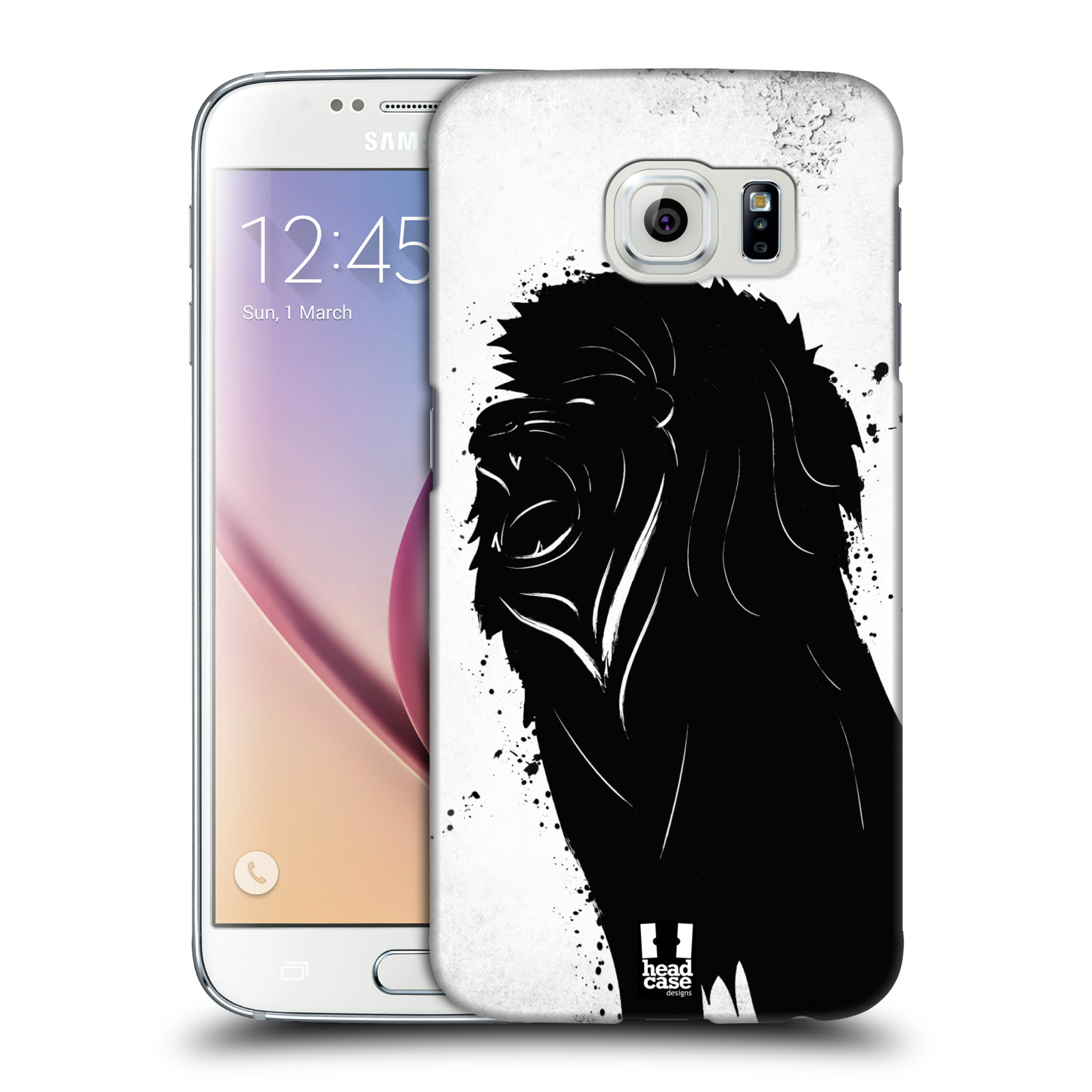 HEAD CASE plastový obal na mobil SAMSUNG Galaxy S6 (G9200, G920F) vzor Kresba tuš zvíře lev