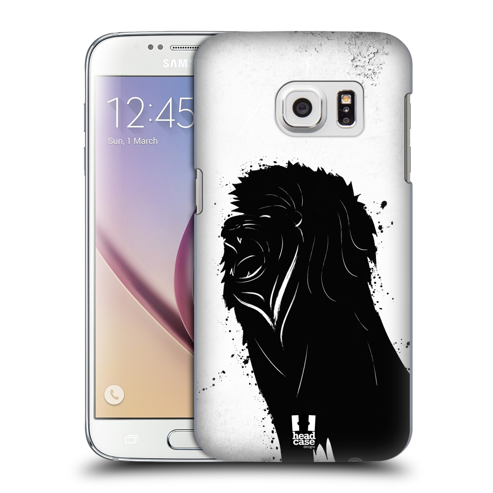 HEAD CASE plastový obal na mobil SAMSUNG GALAXY S7 vzor Kresba tuš zvíře lev
