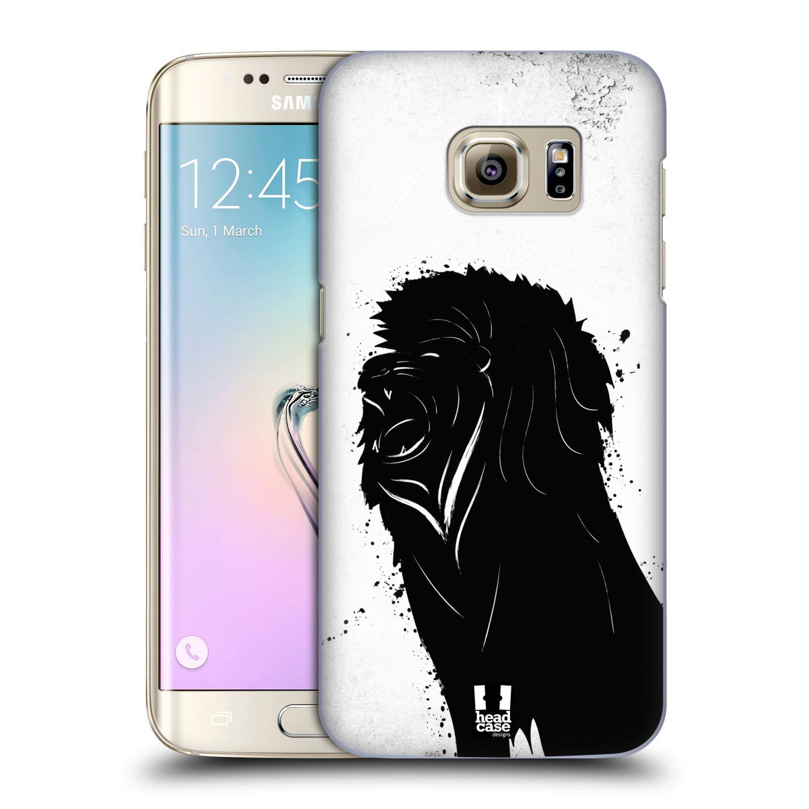 HEAD CASE plastový obal na mobil SAMSUNG GALAXY S7 EDGE vzor Kresba tuš zvíře lev